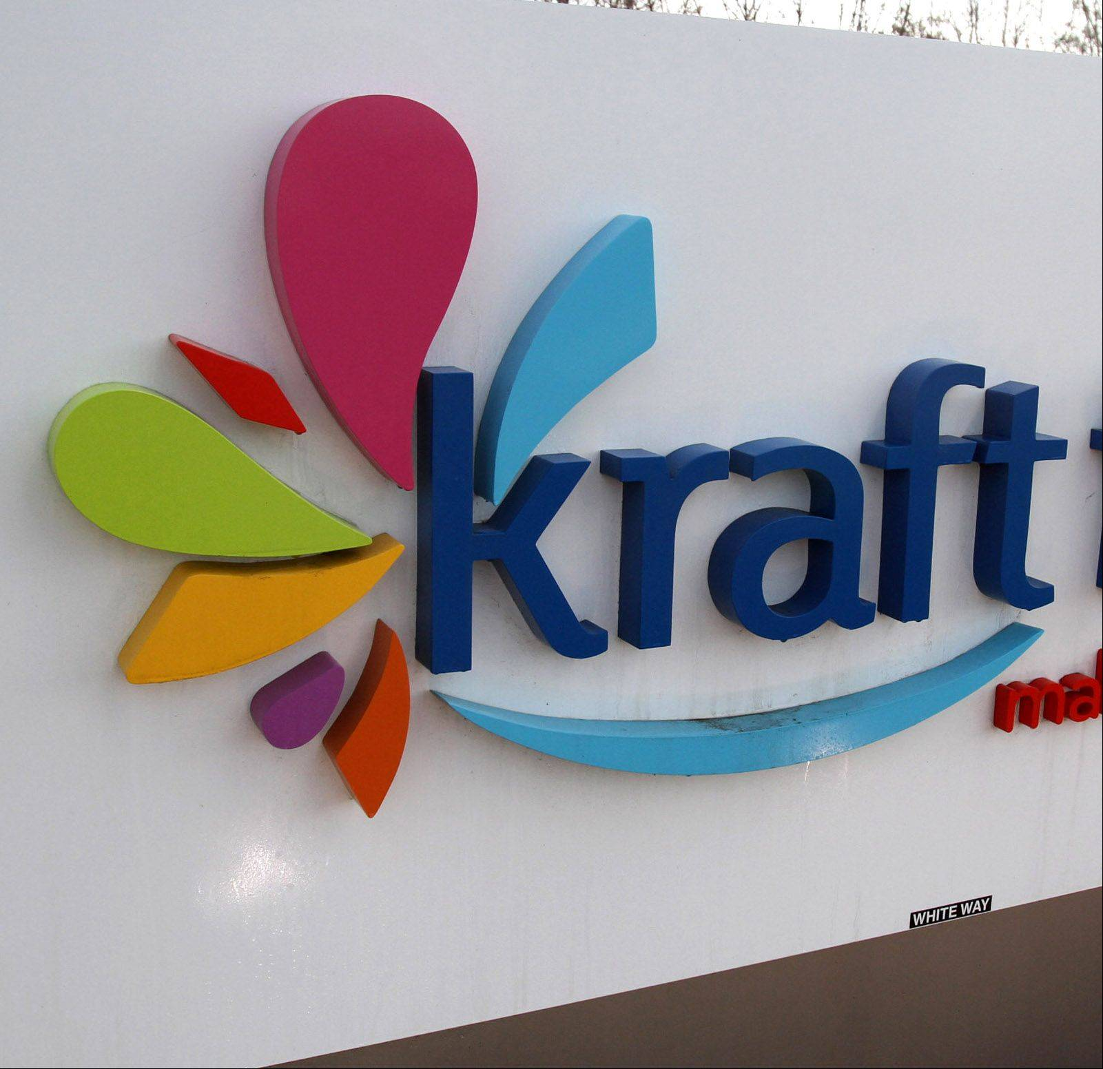 Northfield-based Kraft Foods expects fourth-quarter adjusted earnings above analysts' current estimates, but foresees lower revenue than a year ago.