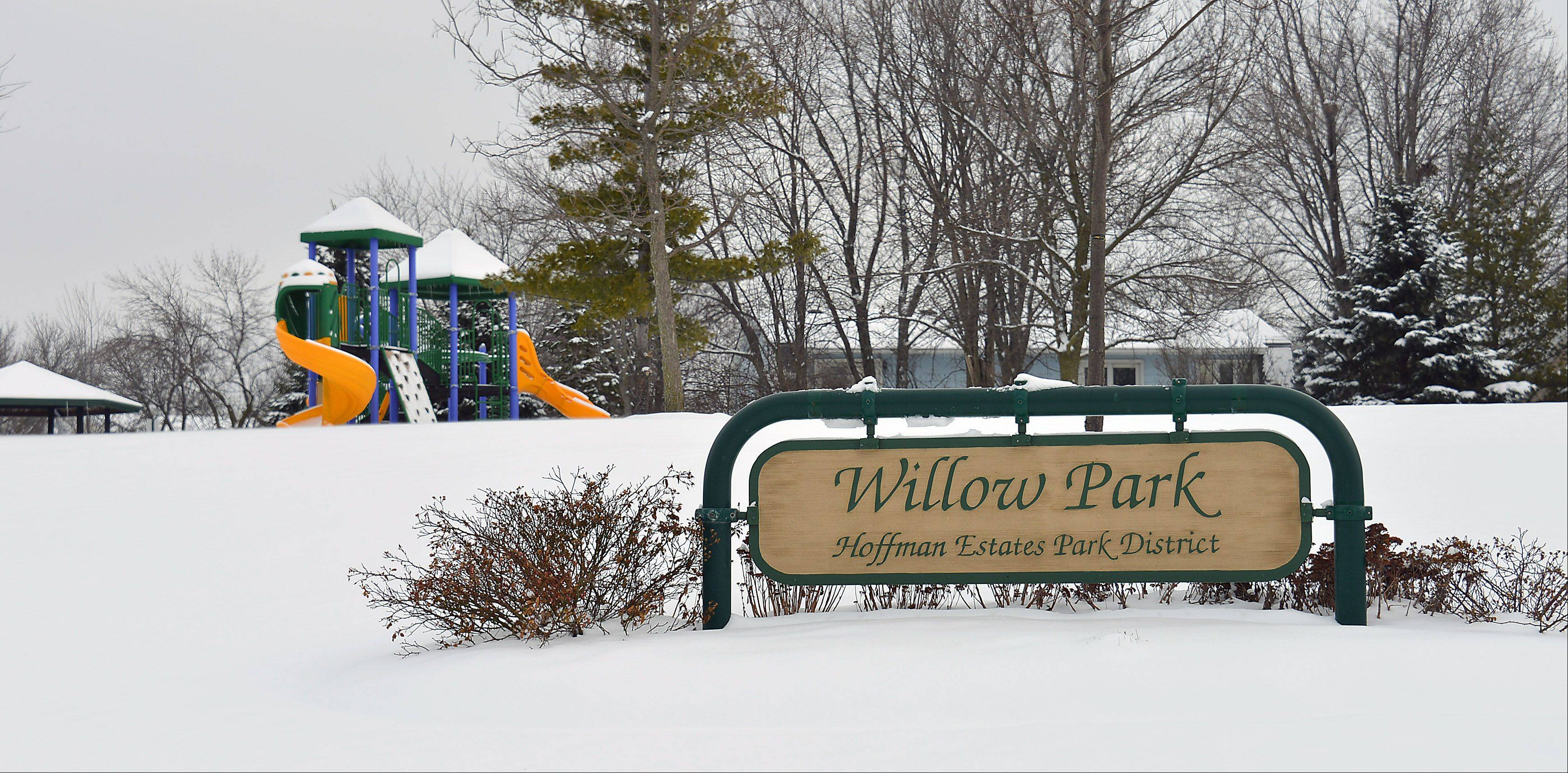 Willow Park provides open space and a place for kids to play in the Winston Knolls neighborhood.