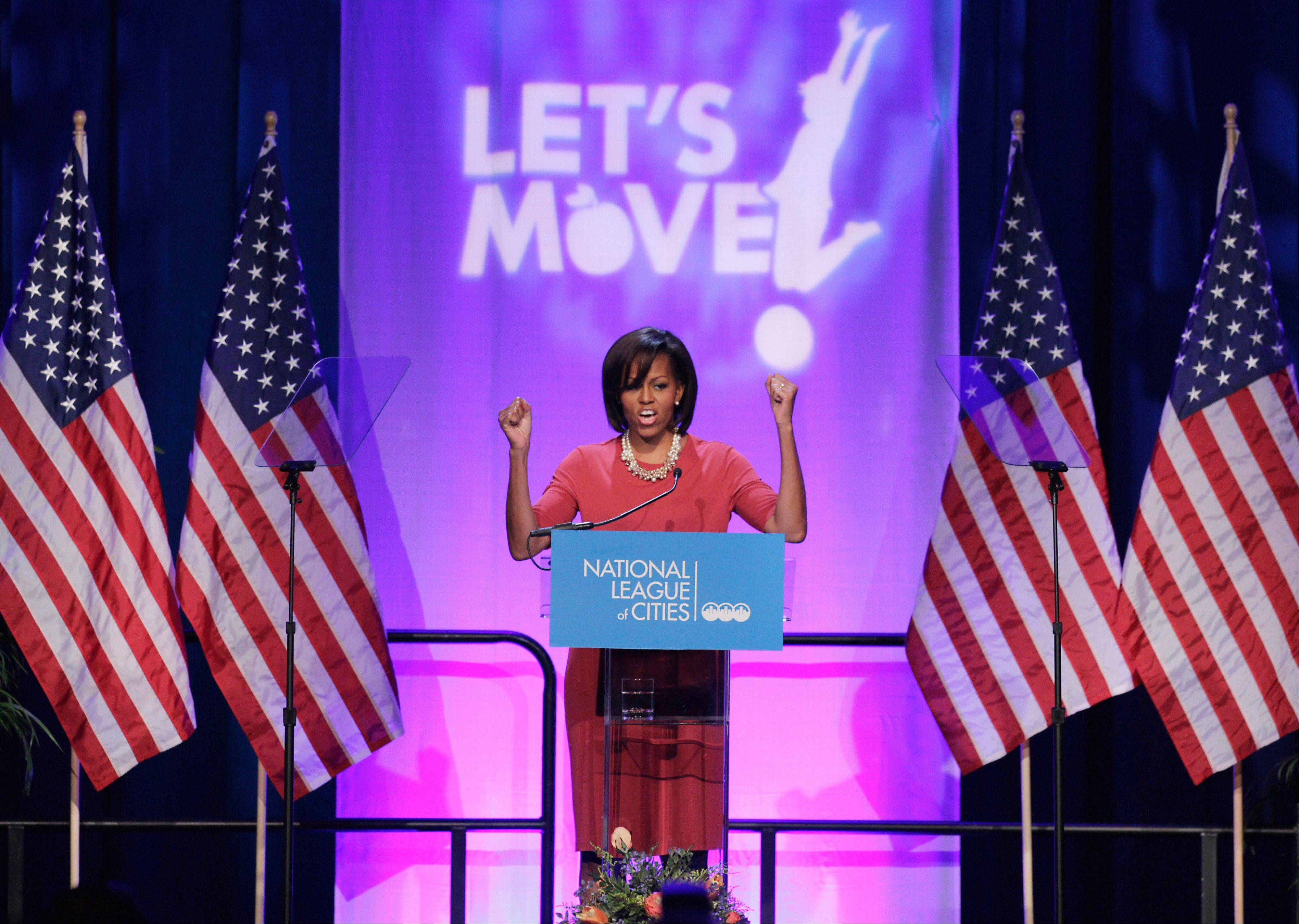 Associated Press File Photo, 2011 First lady Michelle Obama speaks at the National League of Cities Conference about the Let's Move! initiative in Washington. C-SPAN has teamed up with The White House Historical Association to produce a series on first ladies.