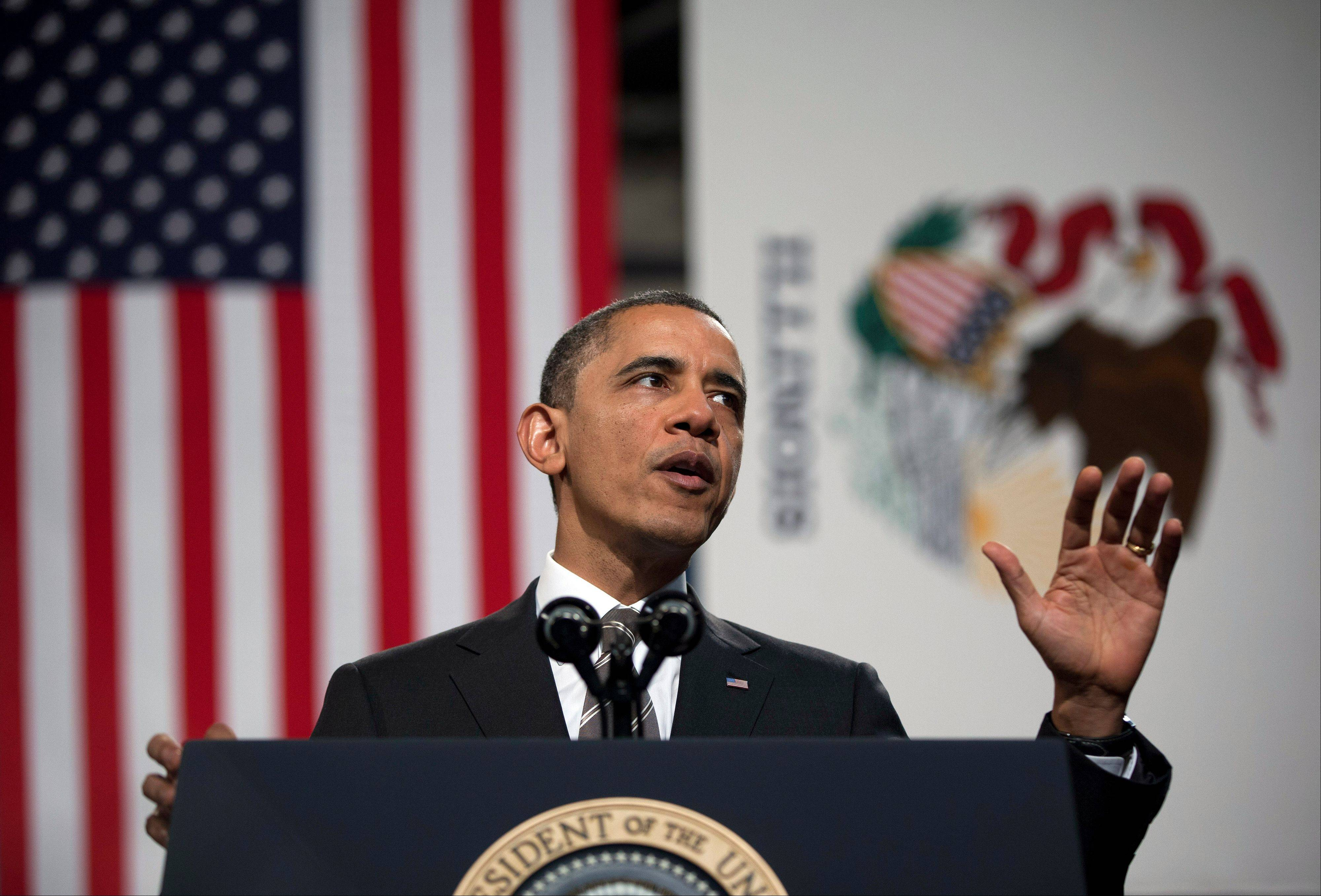 President Barack Obama speaks at Hyde Park Academy on Friday in Chicago. Obama is traveling to promote the economic and educational plan he laid out in his State of the Union address.
