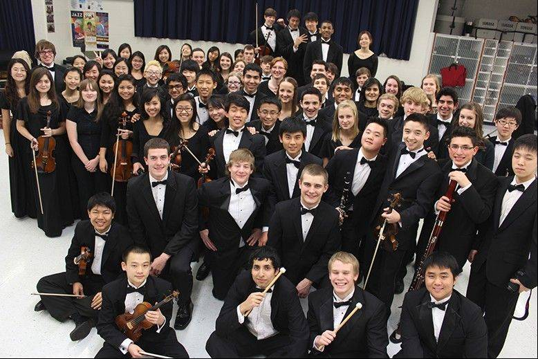 The District 211 Honors Orchestra.