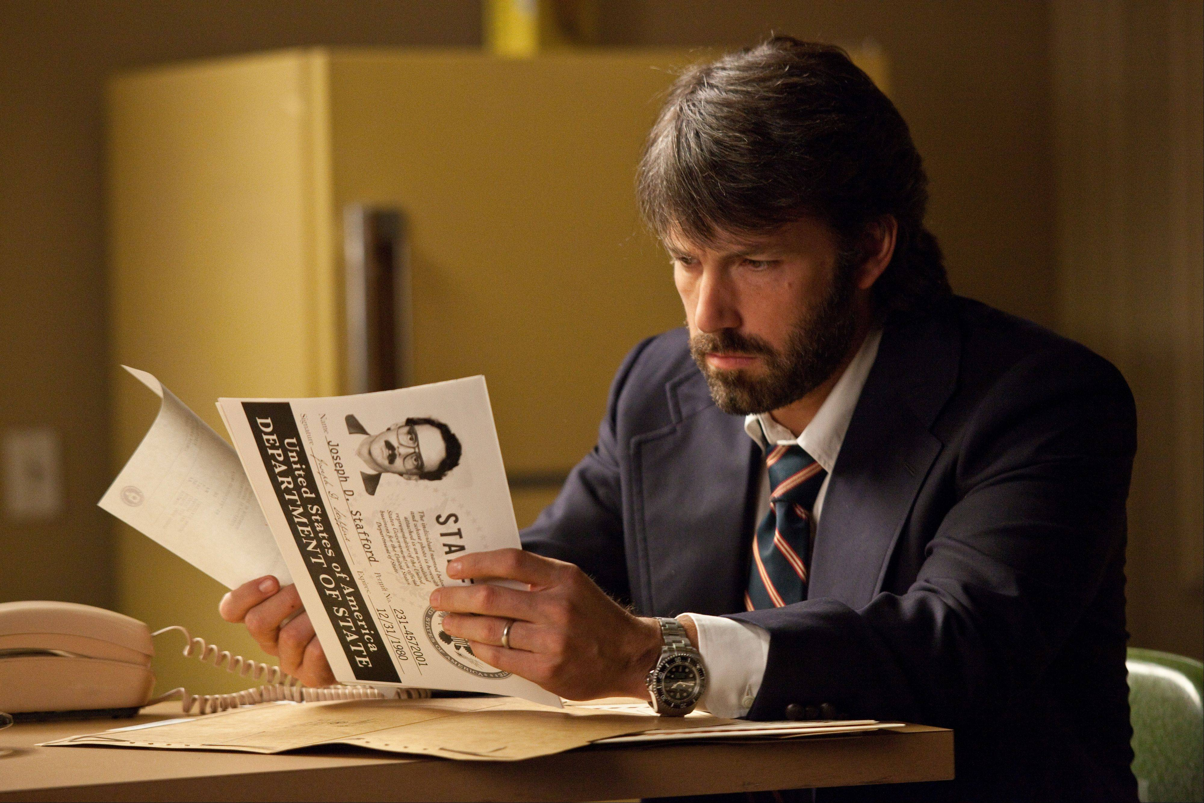 "Ben Affleck stars in and directed the political thriller ""Argo."""