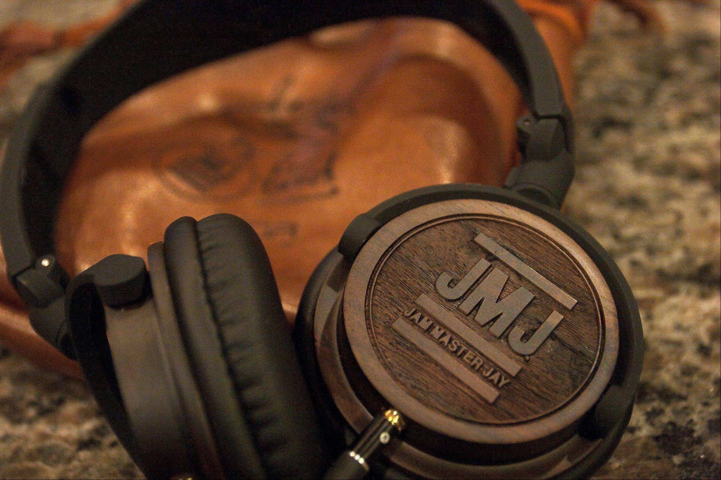 Jam Master Jay signature model headphones from BiGR Audio. The headphones were designed with a nod to the late Jason Mizell, a member of the rap group Run-DMC.