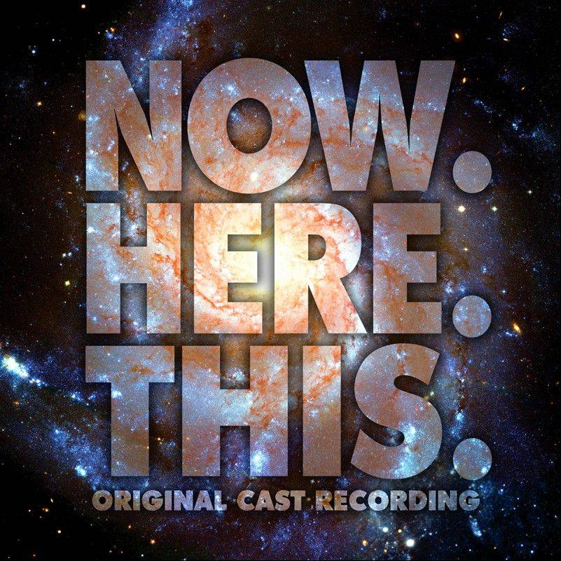 "This CD cover image released by Ghostlight shows ""Now.Here.This,"" the original Broadway cast recording. Jeff Bowen, who starred in the show as well as wrote the songs and lyrics, turned to the show's fans via crowdfunding to get a cast album produced, an idea that more in the theater community are embracing."