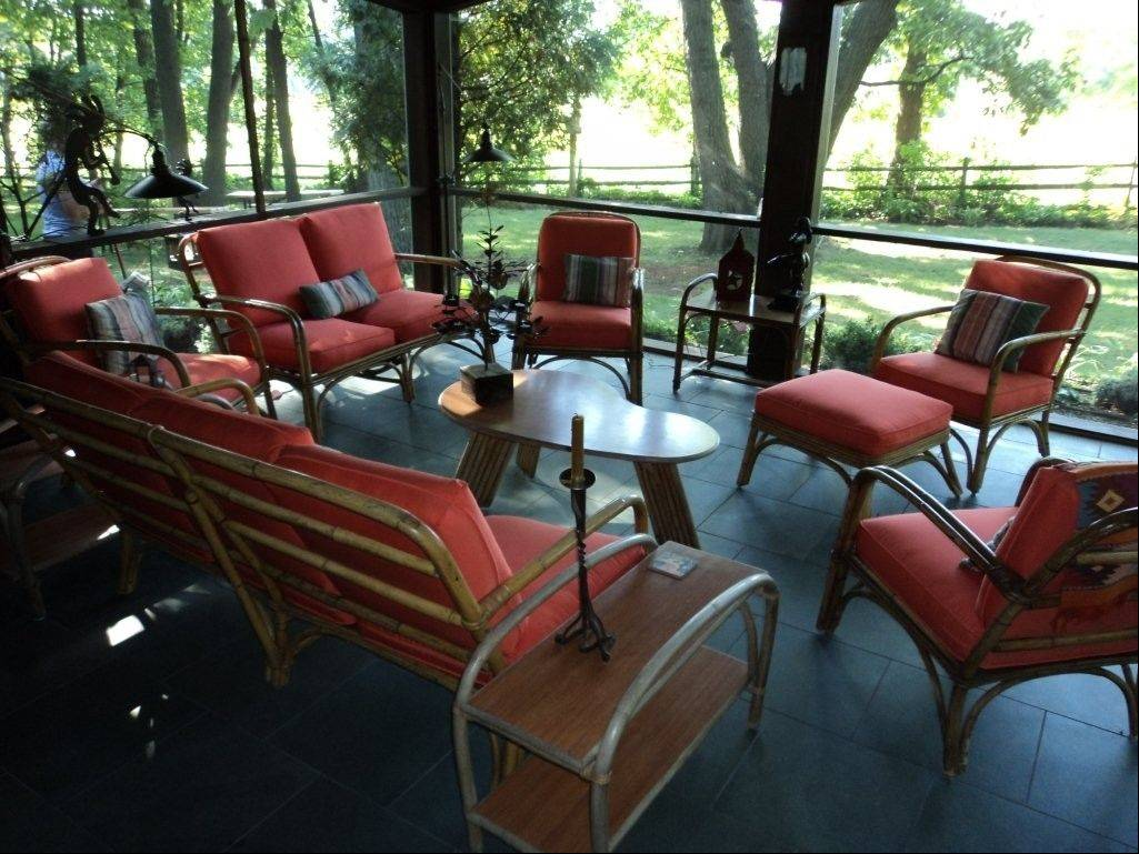 Goldstein reupholstered this patio set.