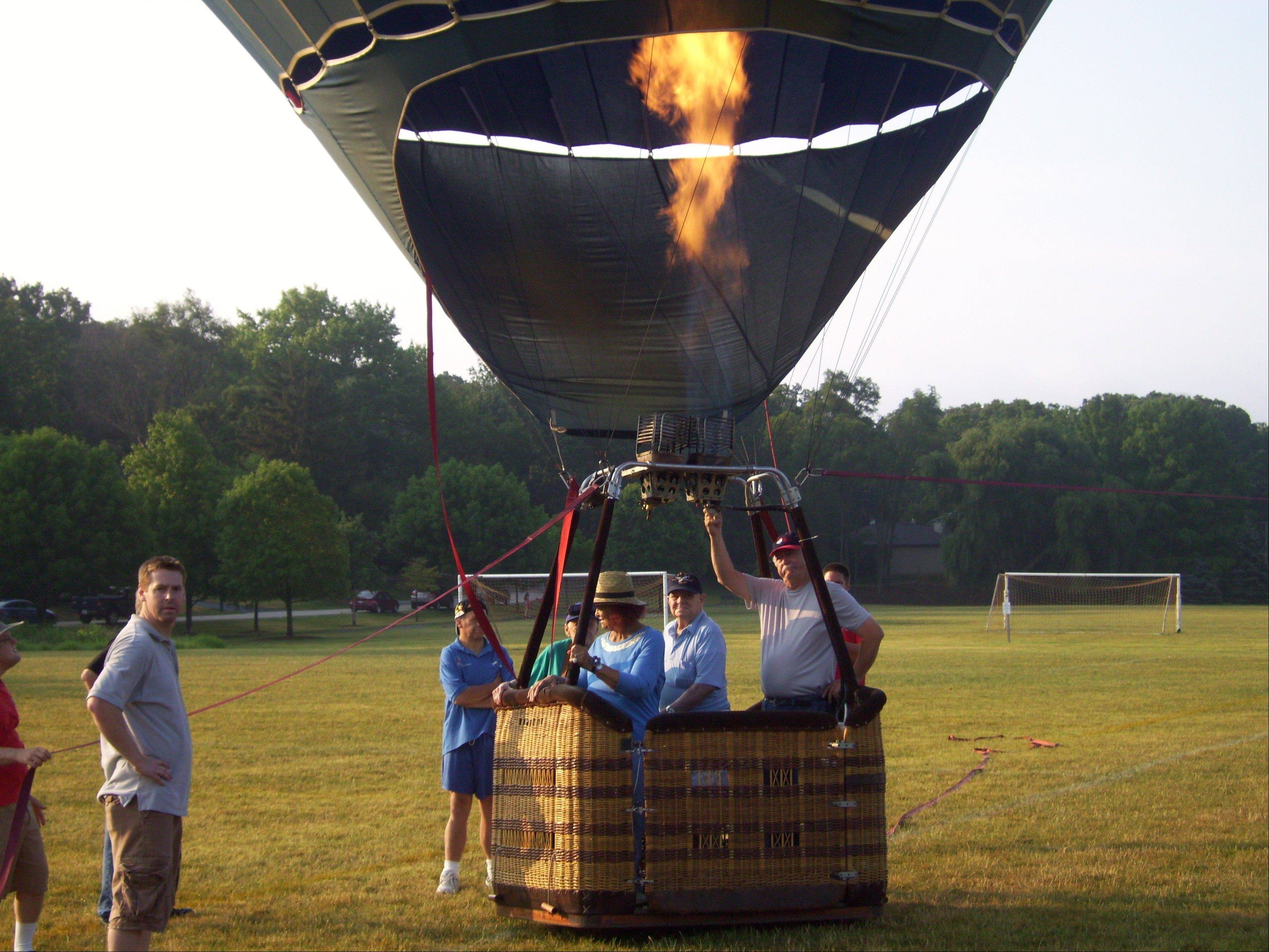 Alexian Village of Elk Grove Village will occasionally treat its residents to a hot-air balloon ride with A Great American Balloon Co.