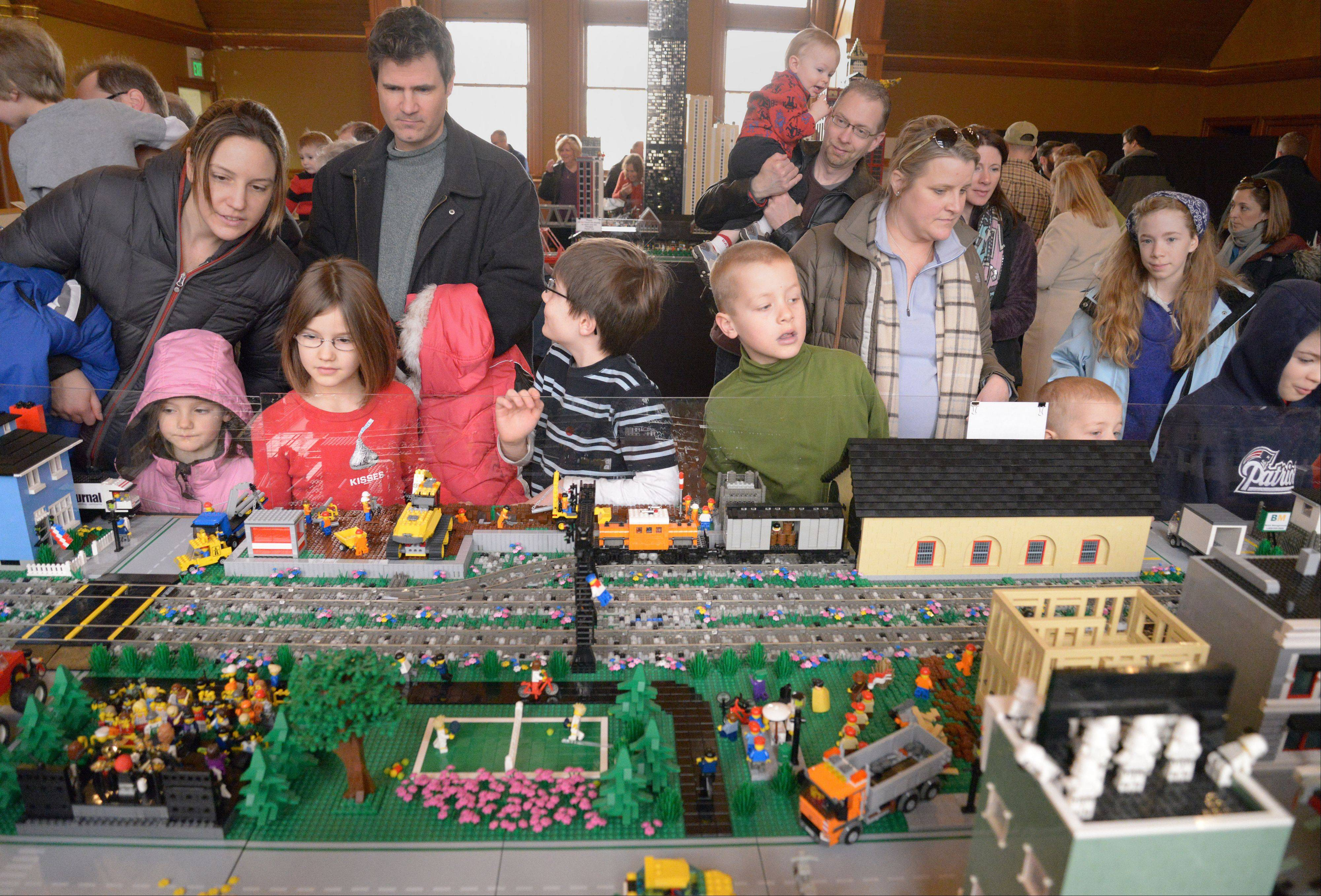 Parents and kids alike enjoyed the Northern Illinois Lego Train Club's show Saturday at the DuPage County Historical Museum in Wheaton. The event continues Sunday.