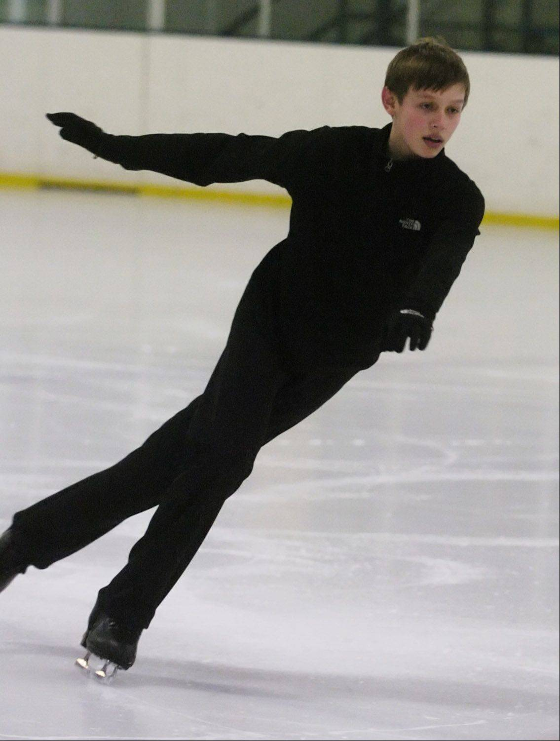 Figure skater Derek Wagner of Geneva finished ninth in the juvenile boys competition at last year's U.S. Junior Figure Skating Championships in December.