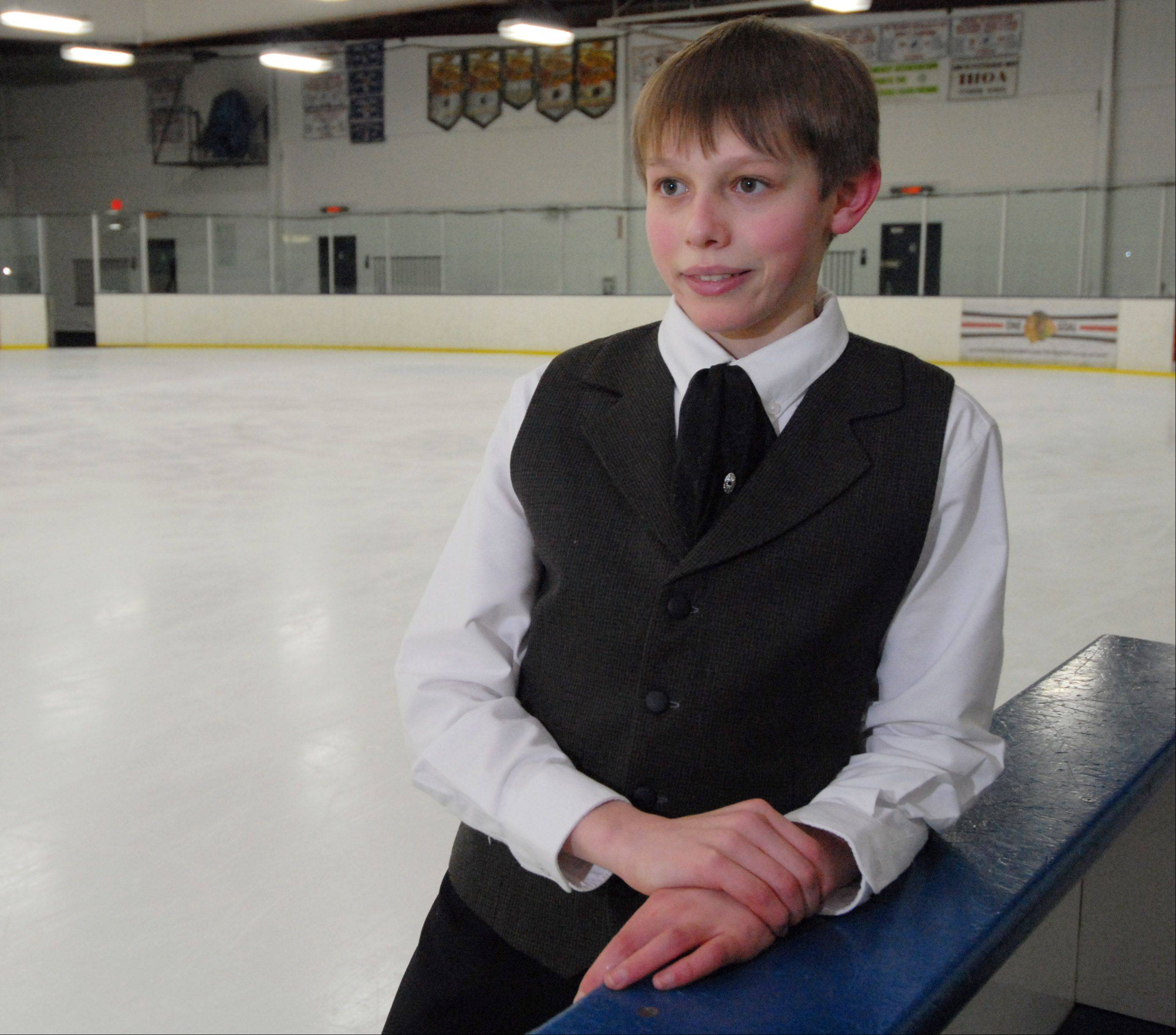 Derek Wagner of Geneva was ninth in the juvenile boys competition at the 2012 U.S. Junior Figure Skating Championships in December.
