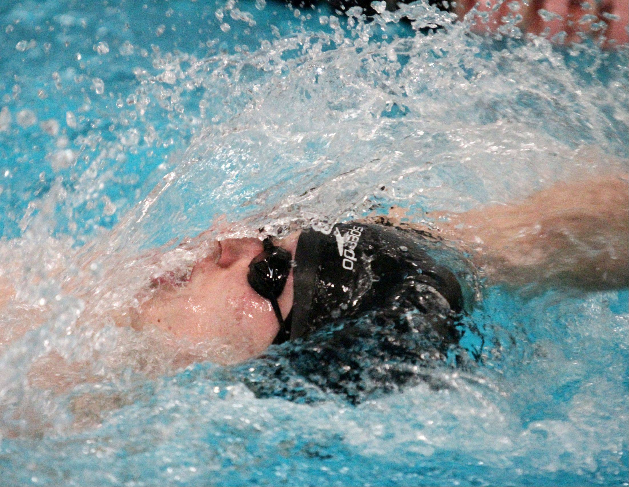 South Elgin's Alex Duffy placed second in the 200-yard individual melody at the sectional swim meet at St. Charles East on Saturday.