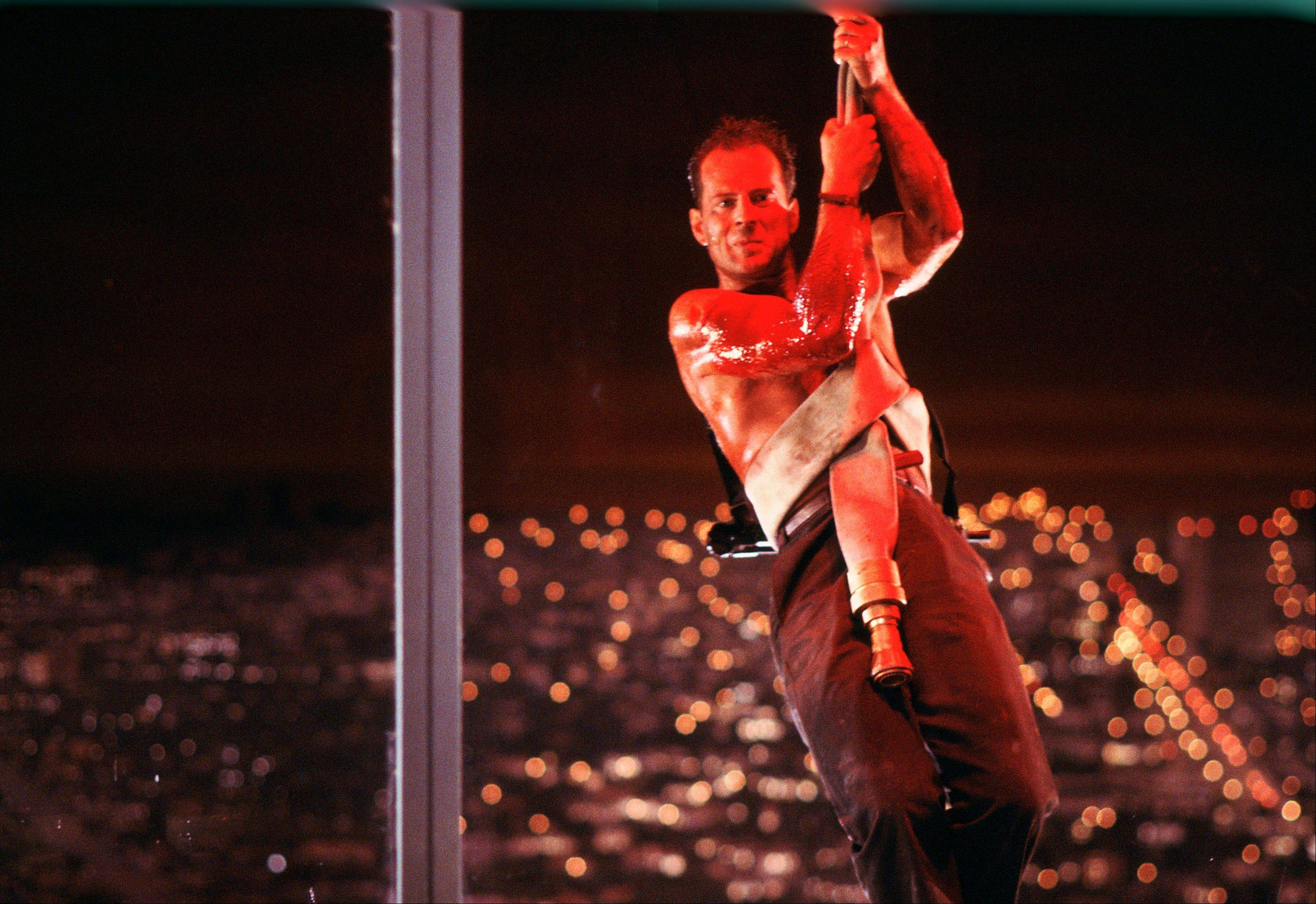 Bruce Willis in a scene from the 1988 film, �Die Hard.�