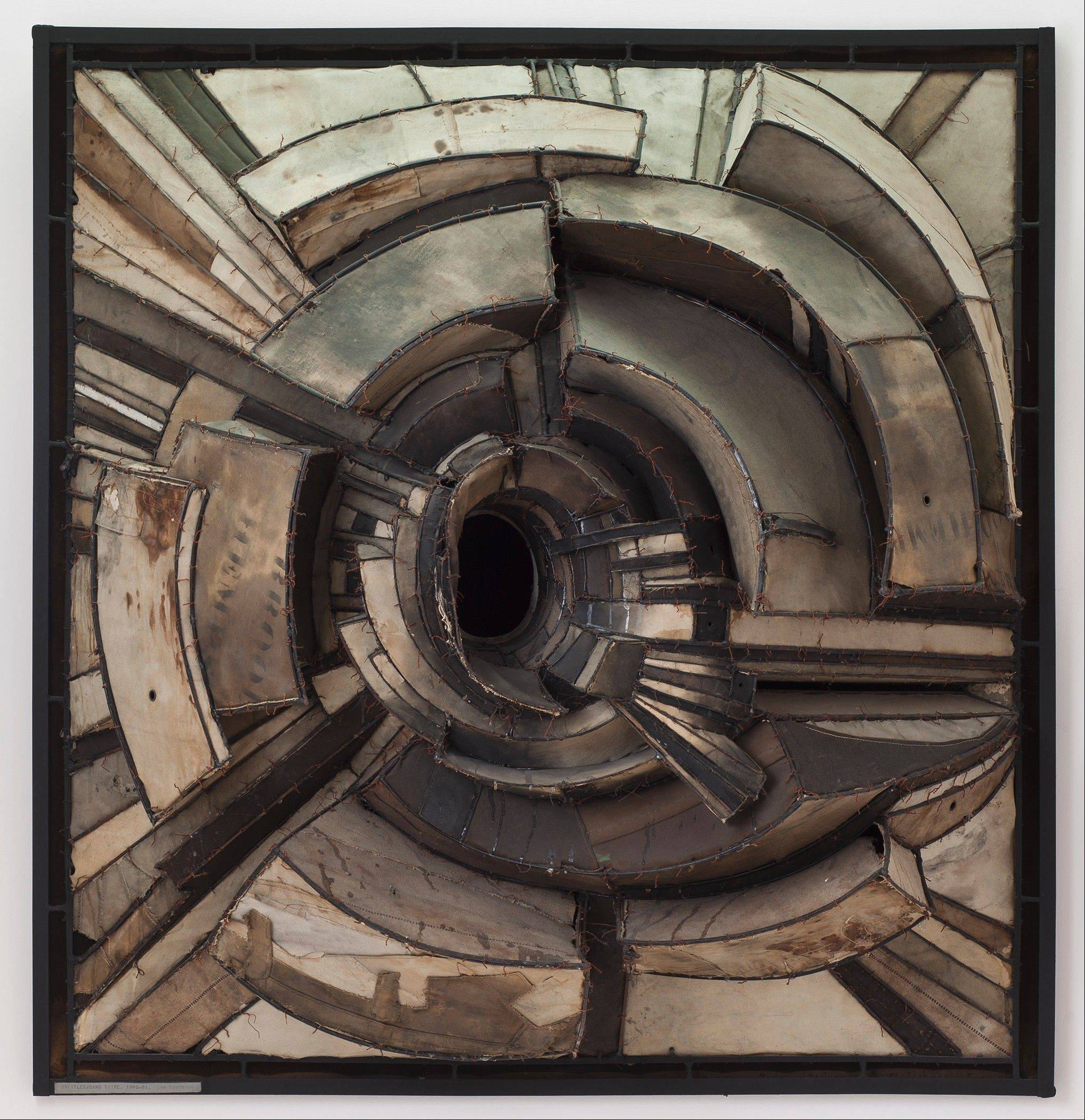 Lee Bontecou's 1962 Untitled work is on loan as part of the Museum of Contemporary Art's exhibit Destroy the Picture: Painting the Void, 1949-1962.