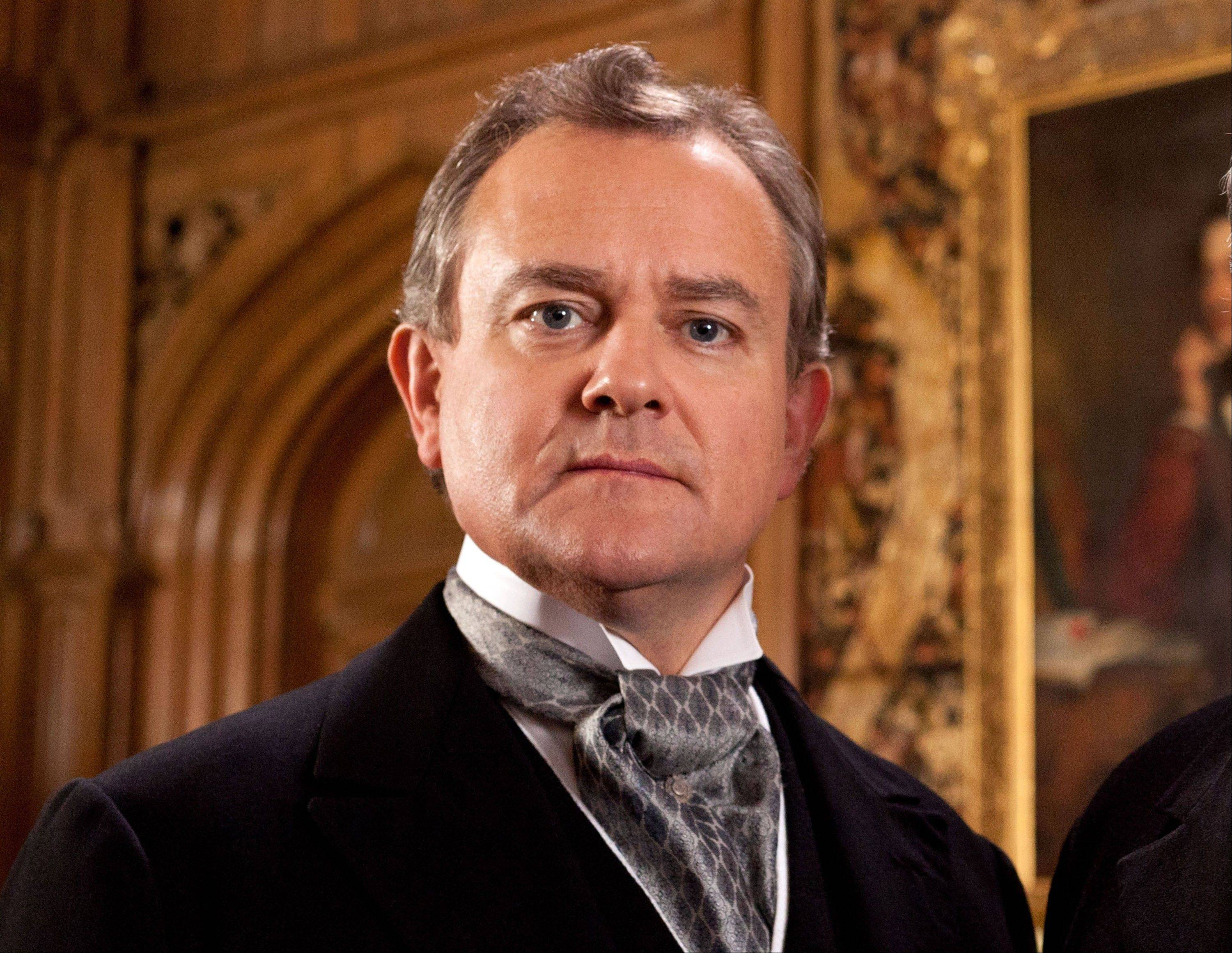 "Hugh Bonneville portrays the patriarchal Lord Grantham in the series, ""Downton Abbey."" The season three finale airs today on PBS."
