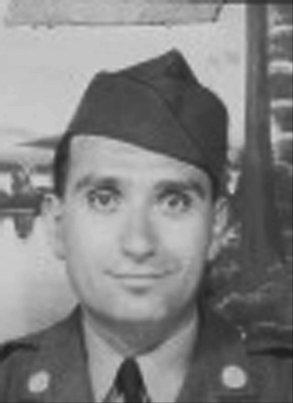 This undated image provided by Hyla Merin shows 2nd Lt. Hyman Markel. Markel was a rabbi's son, brilliant at mathematics, the brave winner of a Purple Heart who died in 1945. Markel was killed on May 3, 1945, in Italy's Po Valley while fighting German troops as an officer with the 88th Division of the 351st Infantry Regiment.