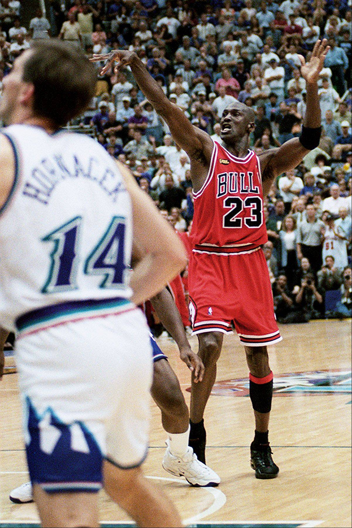 Michael Jordan takes The Shot that sealed the fate of the Utah Zazz once again in the the 1997-98 season.