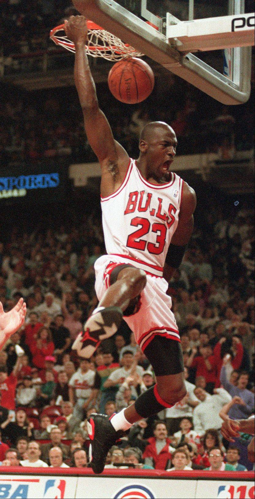 Michael Jordan wowed and amazed beyond words, and it was so special that he was ours all those years as a Bull.