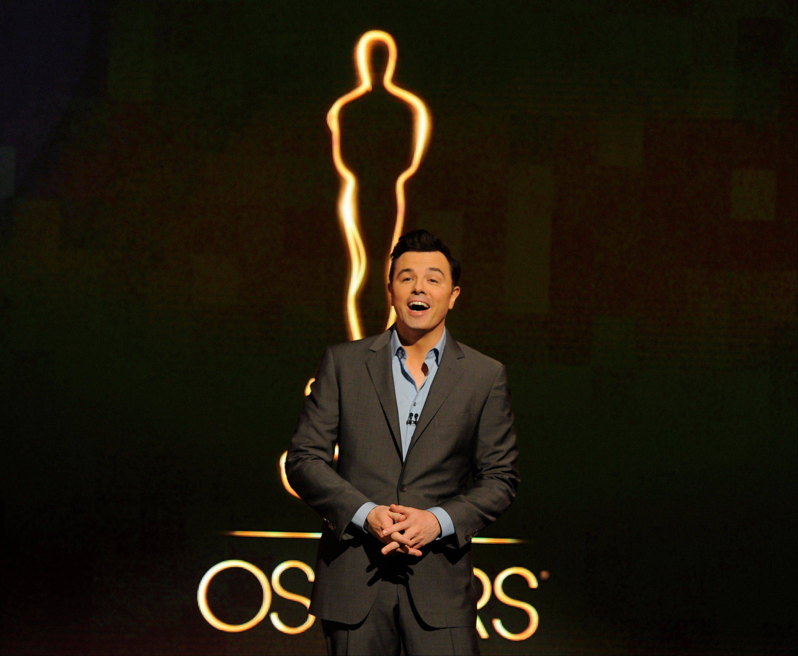 Seth MacFarlane is putting everything into hosting the 85th Academy Awards on Sunday.