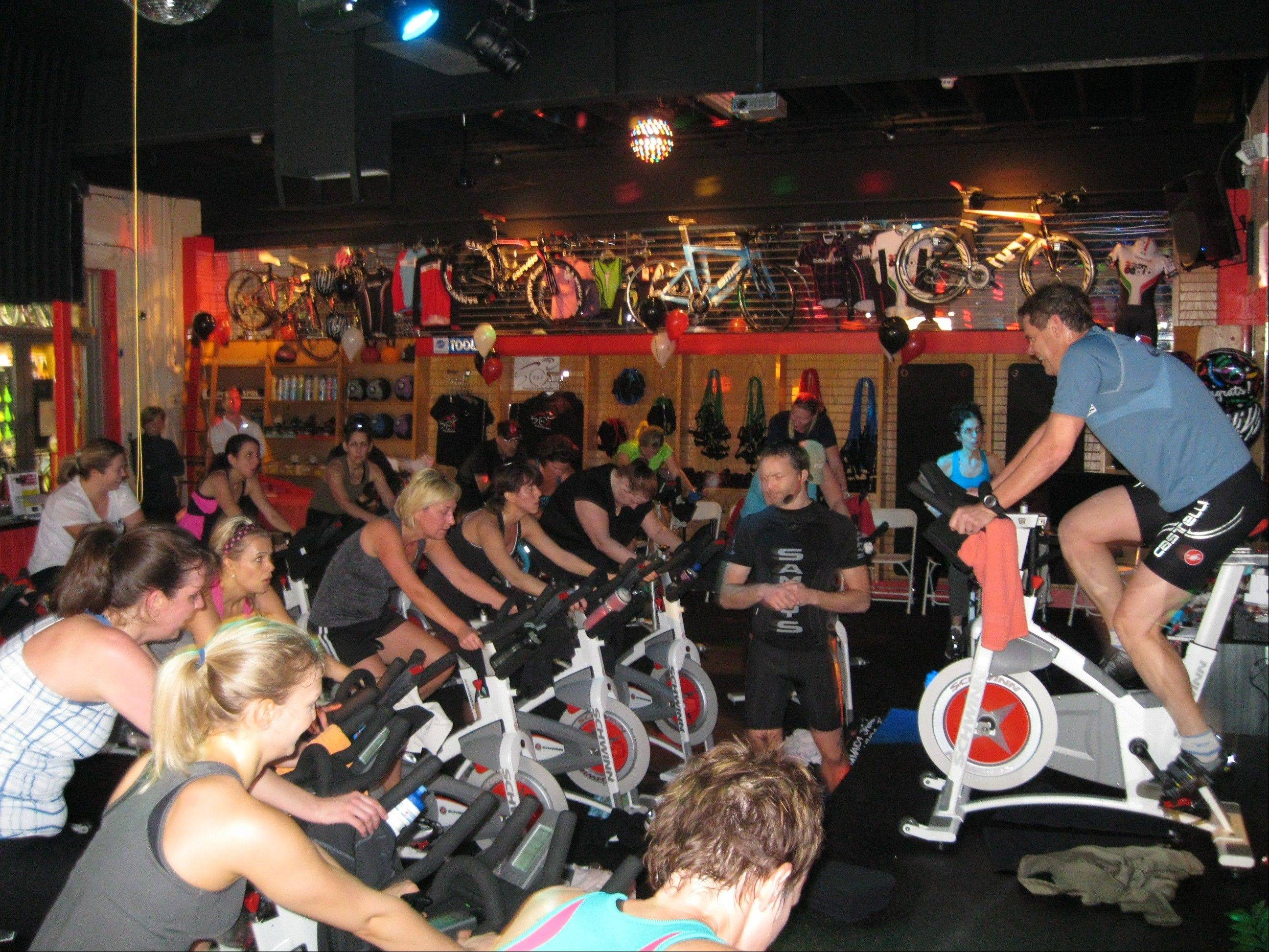 Leslie Grosshauser and Sammy recently opened S&L Tri-CycleFitStudio in St. Charles.