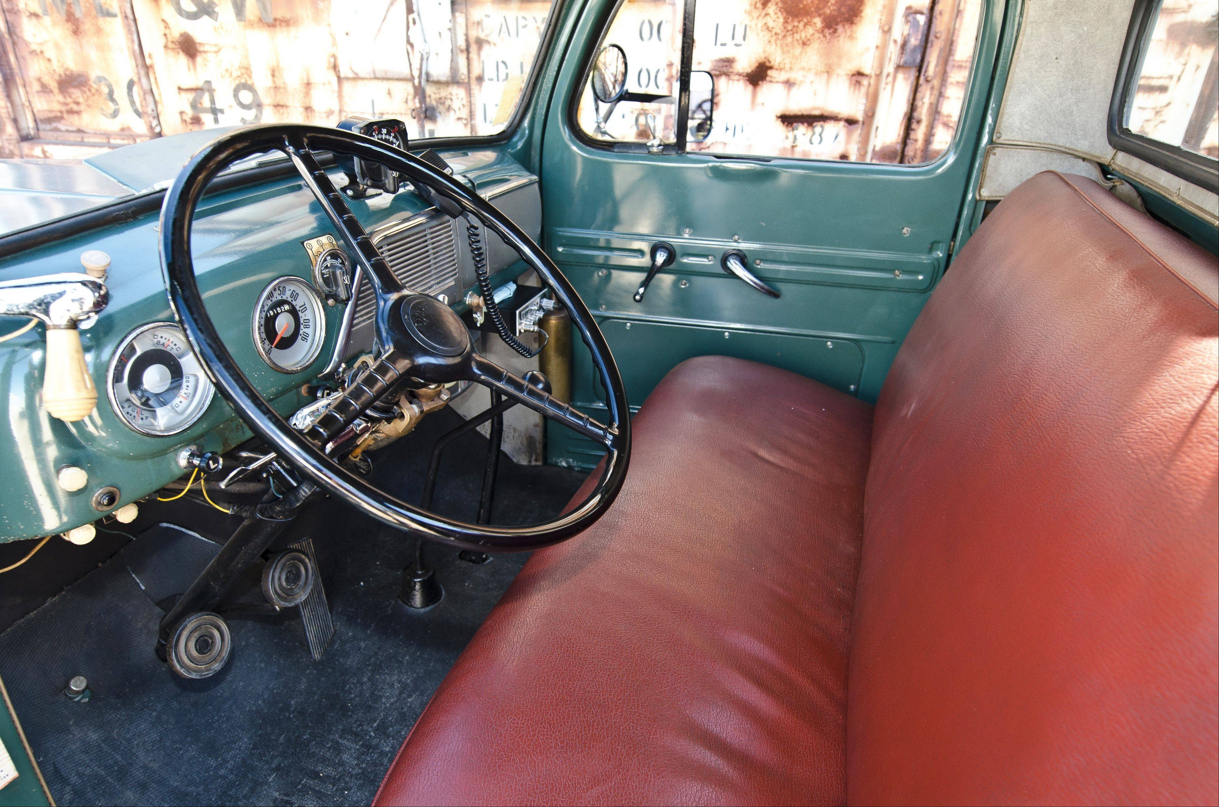 The cab and bench seat remain in original condition.
