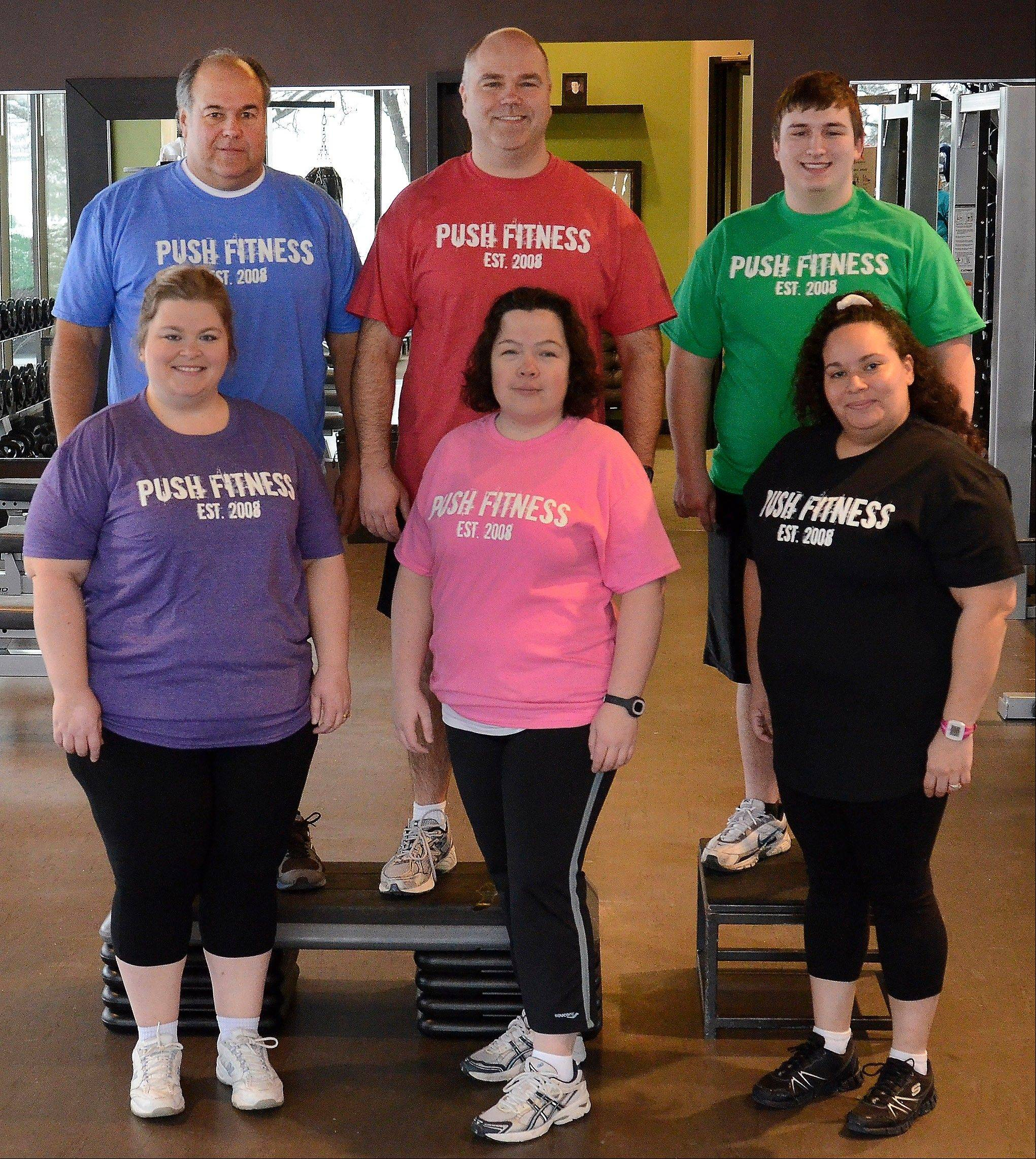 The Fittest Losers are making significant adjustments in their daily food intake, from top left, Mike Paulo, Greg Moehrlin and Joe Gundling. Bottom left, Megan McCarthy-Cook, Karen Castillo and Marianne Costales-Roman.