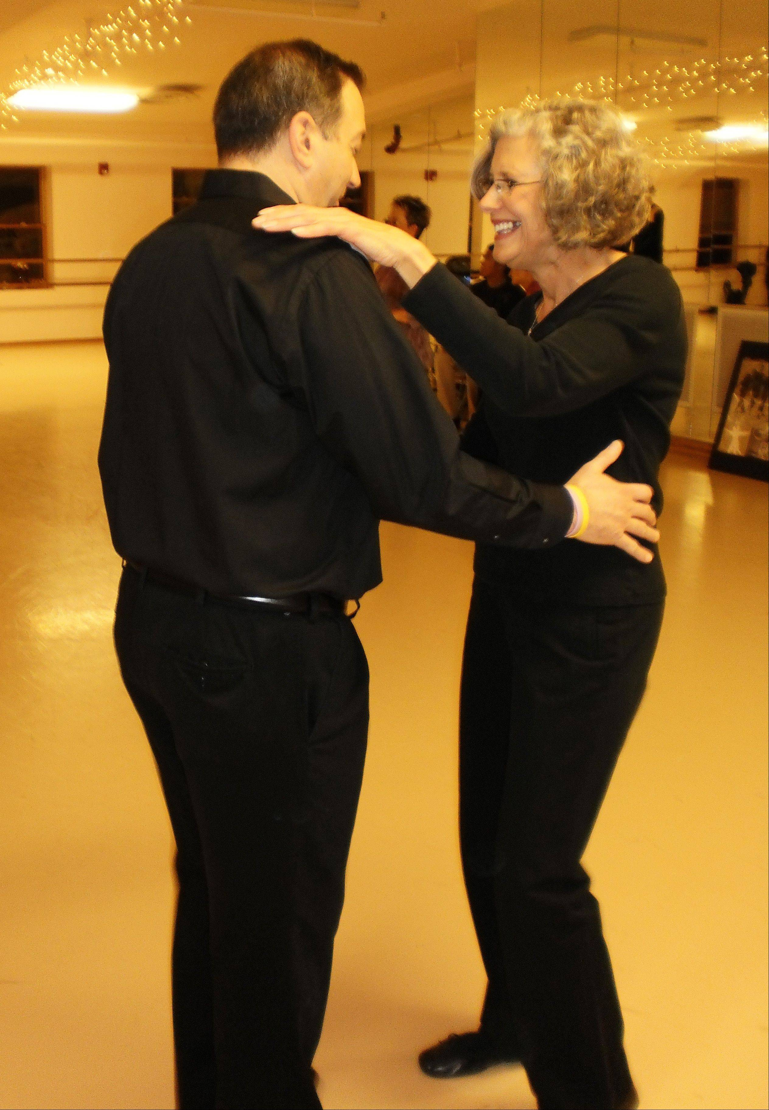 "Geneva 5th Ward Alderman Ralph Dantino and his wife, Nancy, practice some steps for their turn in the 2011 ""Dancing With The Geneva Stars"" fundraising competition."