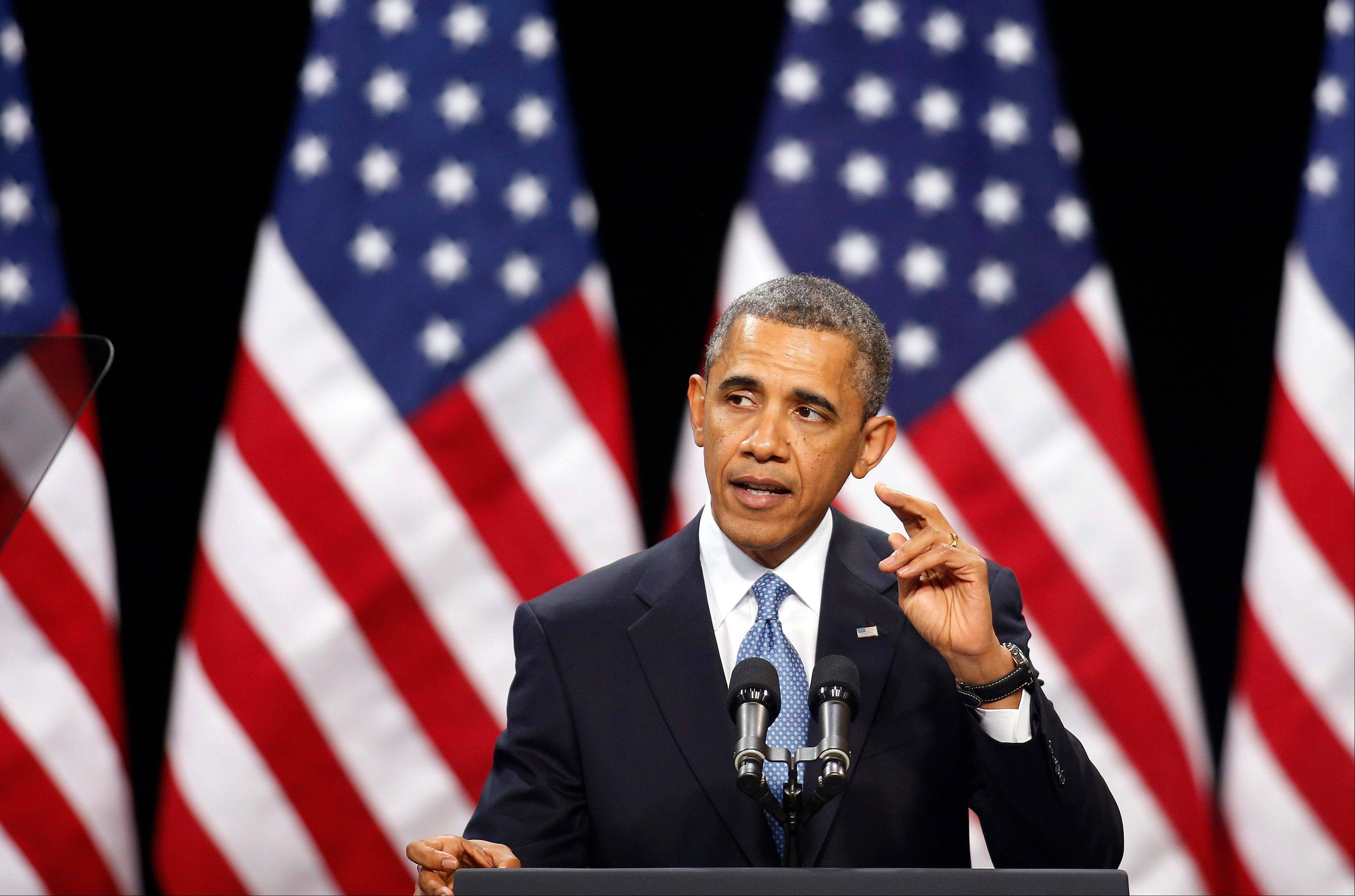 President Barack Obama speaks about immigration reform at a Las Vegas high school. The White House is downplaying its draft immigration proposal as merely a backup plan if lawmakers don't come up with an overhaul of their own. It won't be necessary, Republican and Democratic lawmakers alike are telling the Obama administration.