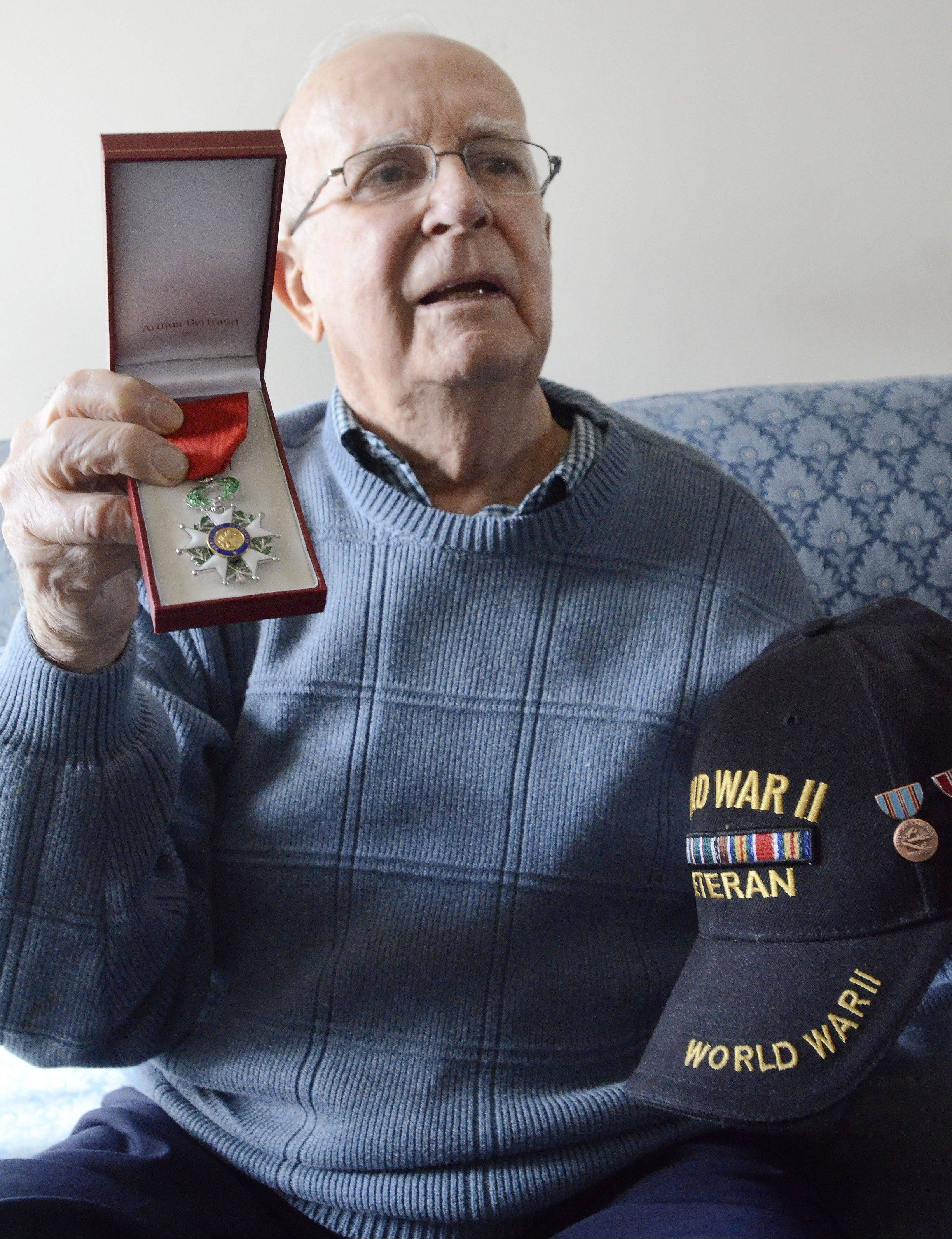 Schaumburg D-Day and Battle of the Bulge veteran Jim Butz has been awarded the French Legion of Honor medal. The award, created by Napoleon in 1802, recognizes extraordinary contributions to France.