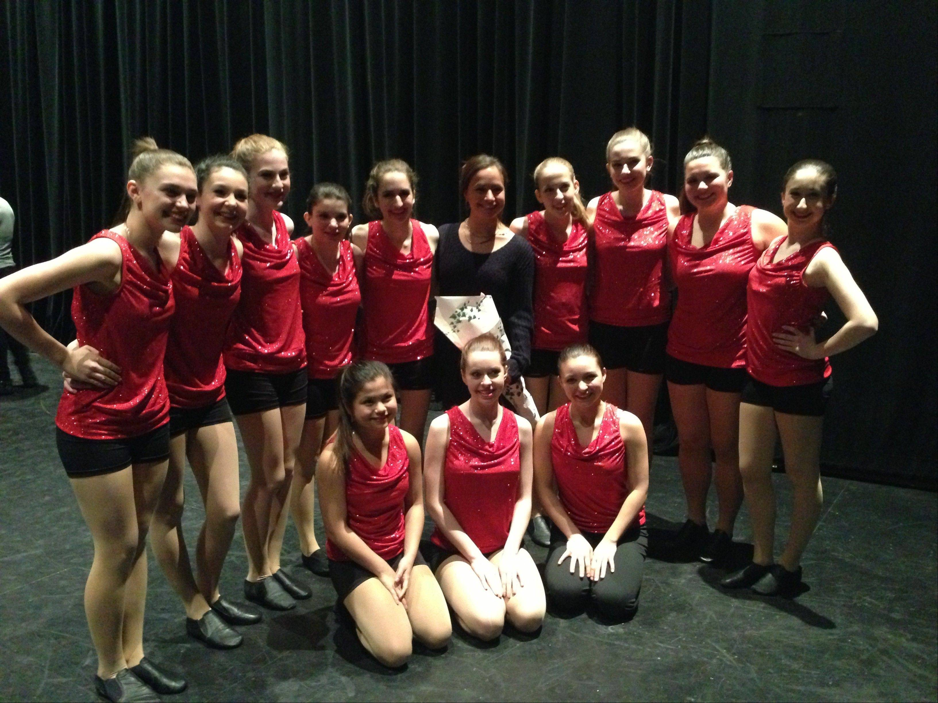 Hersey dancers perform at the Gus Giordano Dance Project on Feb. 2.