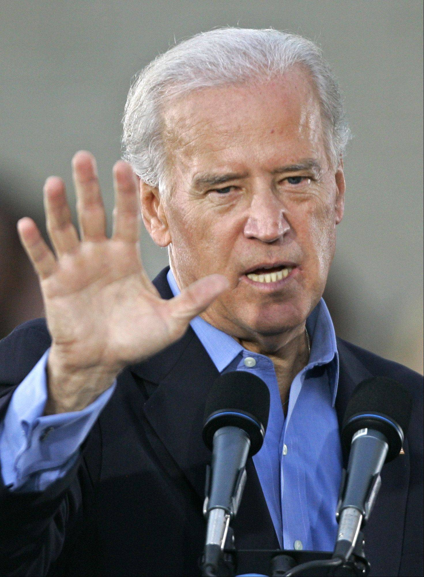 Vice presidential Joe Biden dispensed with some homespun wisdom Tuesday � about protecting oneself with a double-barrel shotgun.