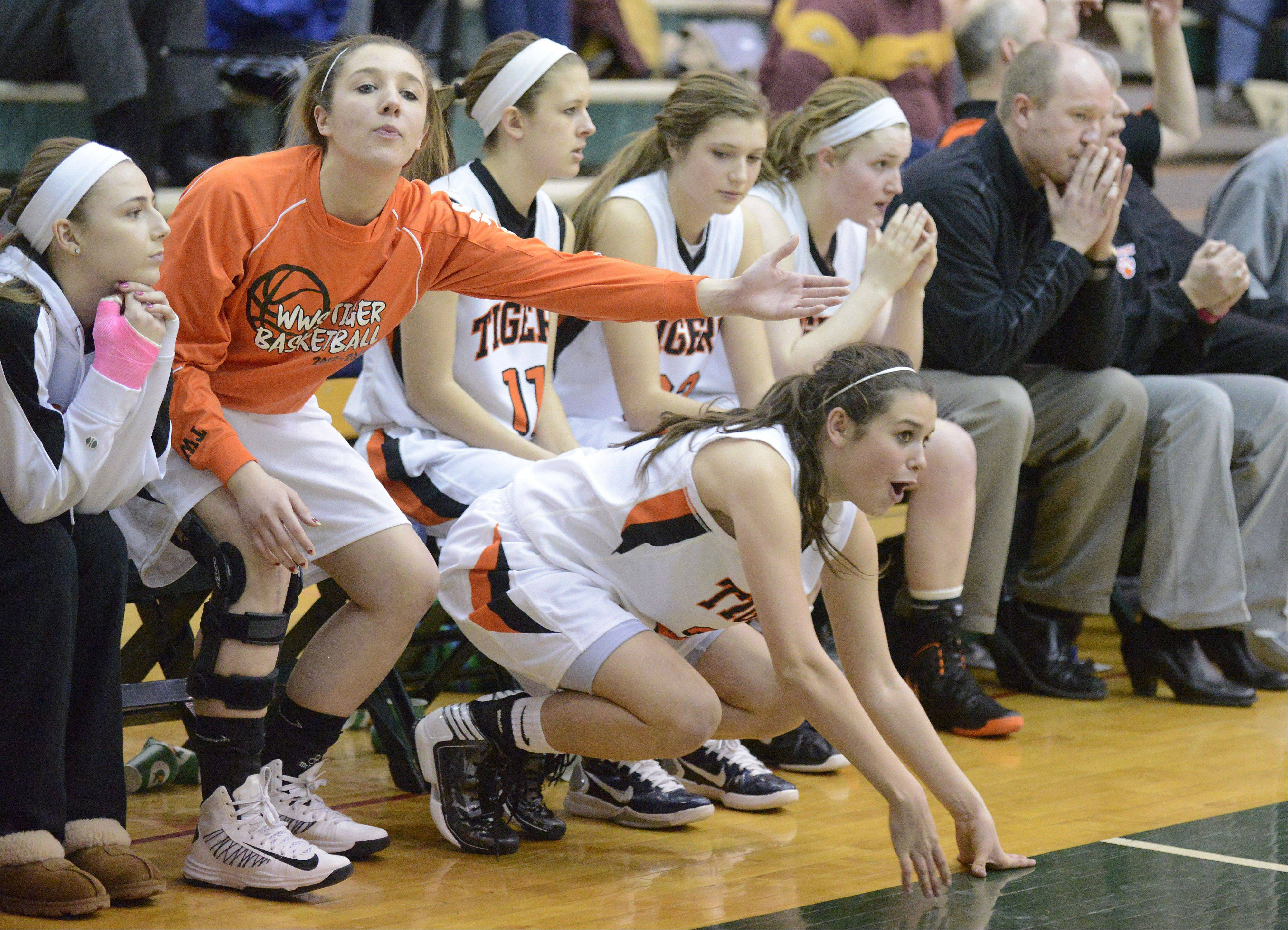 Images from the Geneva vs. Wheaton Warrenville South Class A basketball regional game on Tuesday, February 19, 2013.