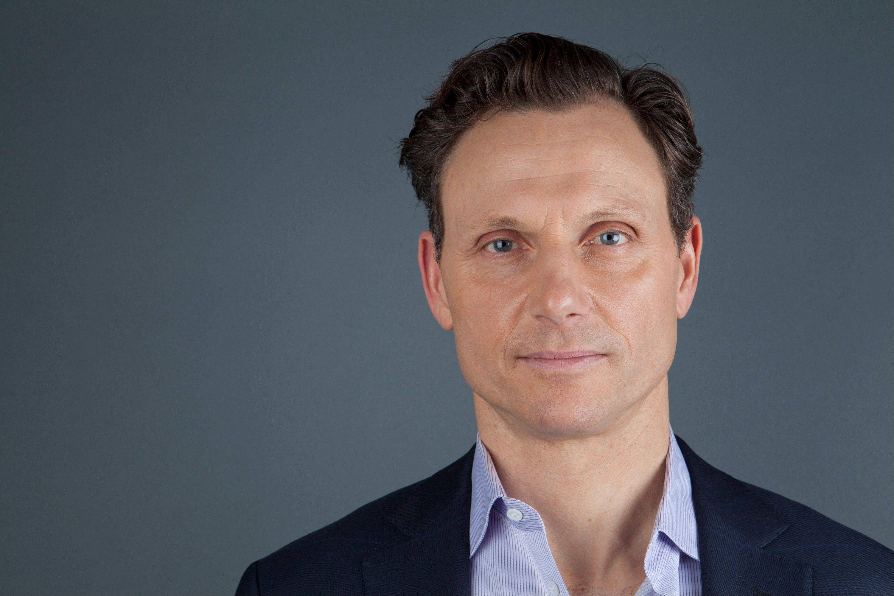 "Actor Tony Goldwyn portrays President Fitzgerald Grant, who is having an affair with his former communications director, on the ABC television series ""Scandal."""