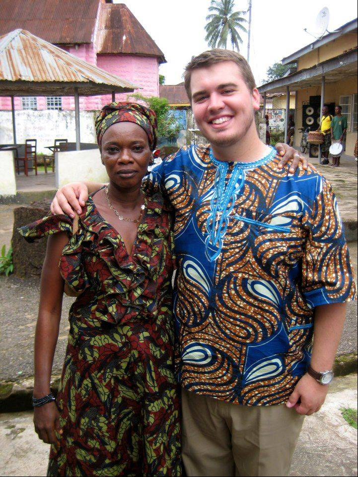 Matt Flannigan of Batavia, right, is a Peace Corps volunteer in Sierra Leone, Africa.