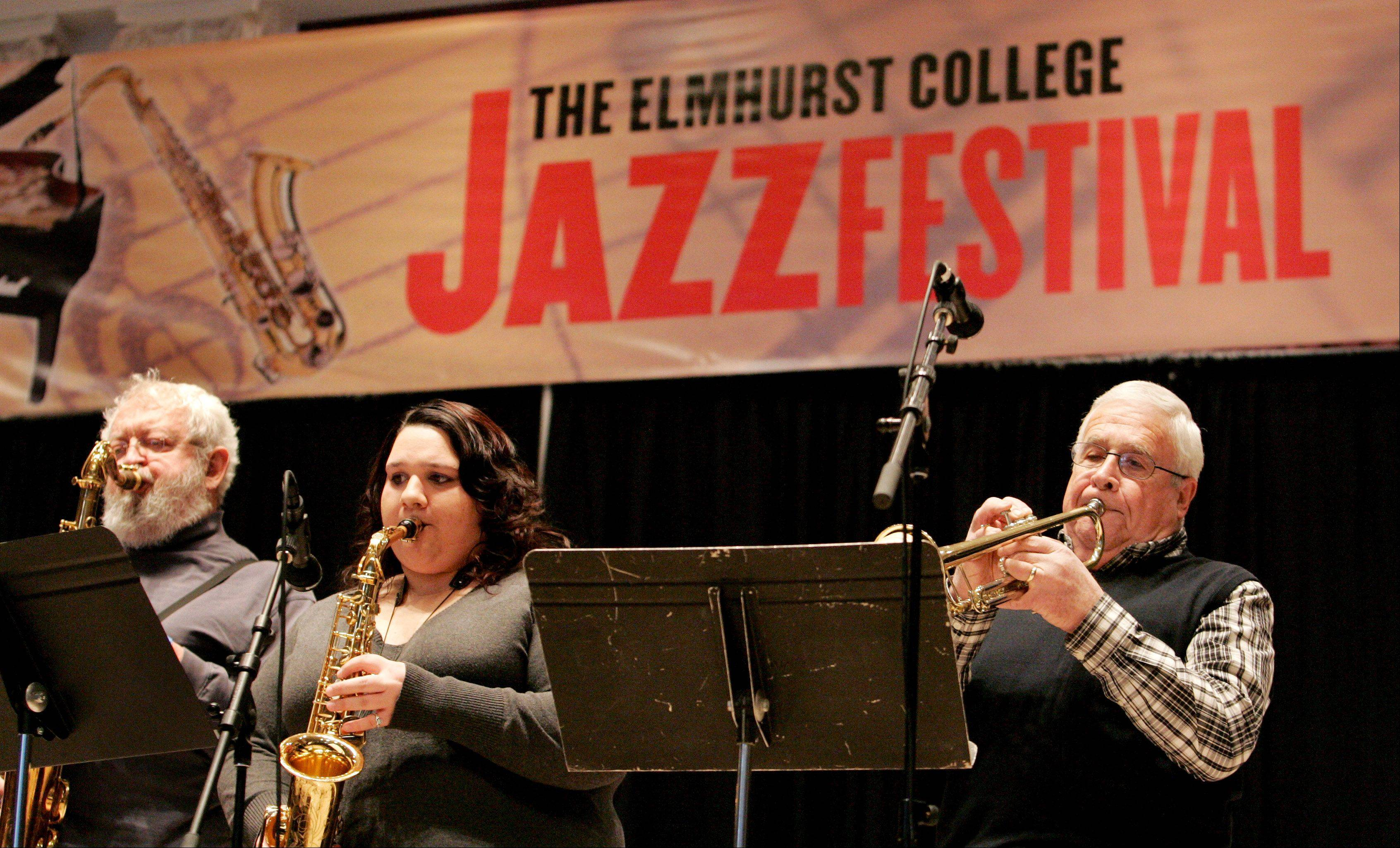 The Elmhurst College Jazz Festival runs through Sunday with a combination of college combos and professional musicians performing in Hammerschmidt Chapel.