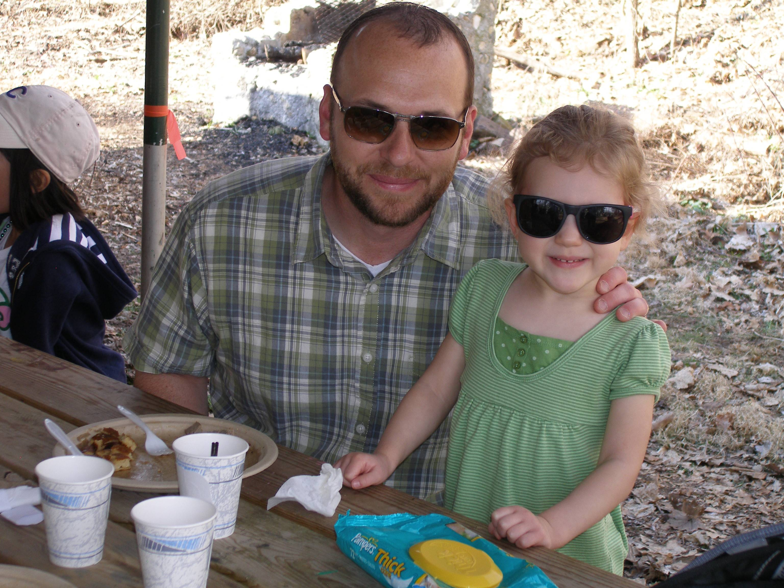 Visitors enjoy the pancake breakfast at Sugar Bush Fair.