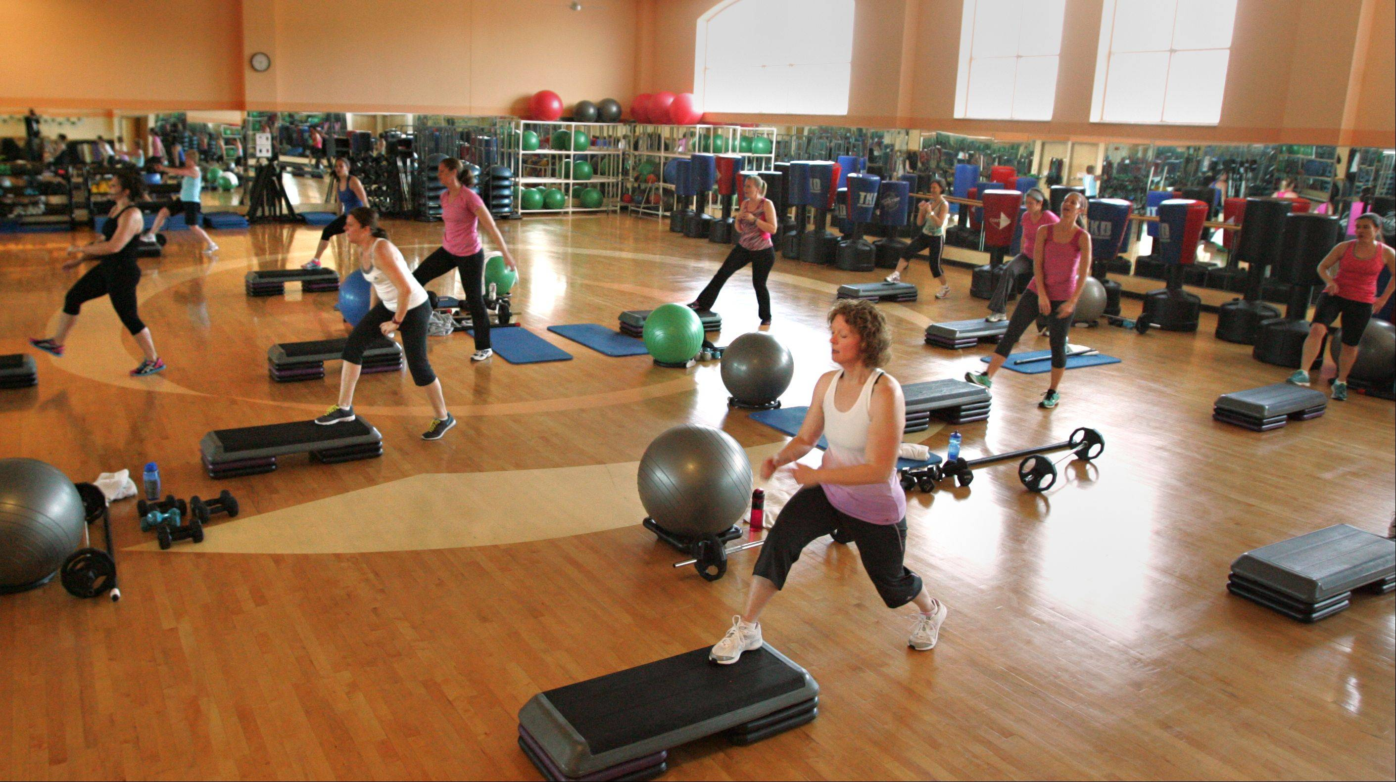 Elgin Parks and Recreation Department officials hope to set an attendance record at Elgin�s �Largest Family Fitness Class� on March 1. Pictured here is a recent Friday morning fitness class at The Centre.