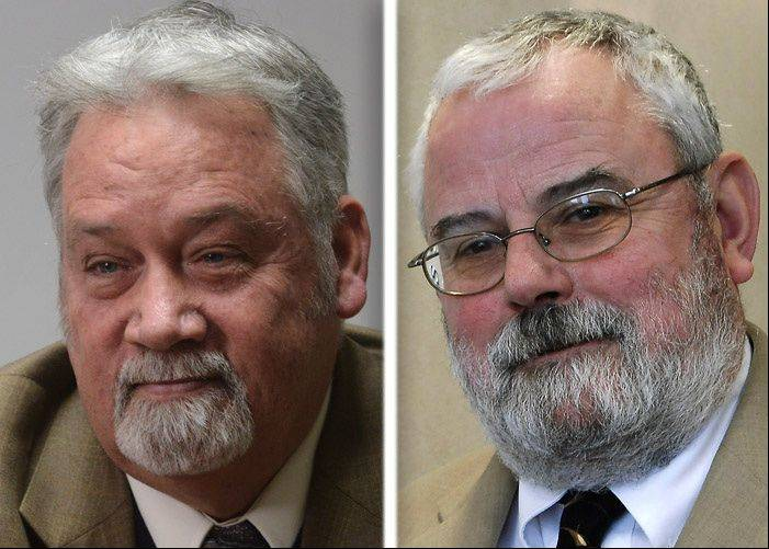 Ray Kincaid, left, and William McLeod, right, are candidates in the 2013 race for Hoffman Estates mayor.