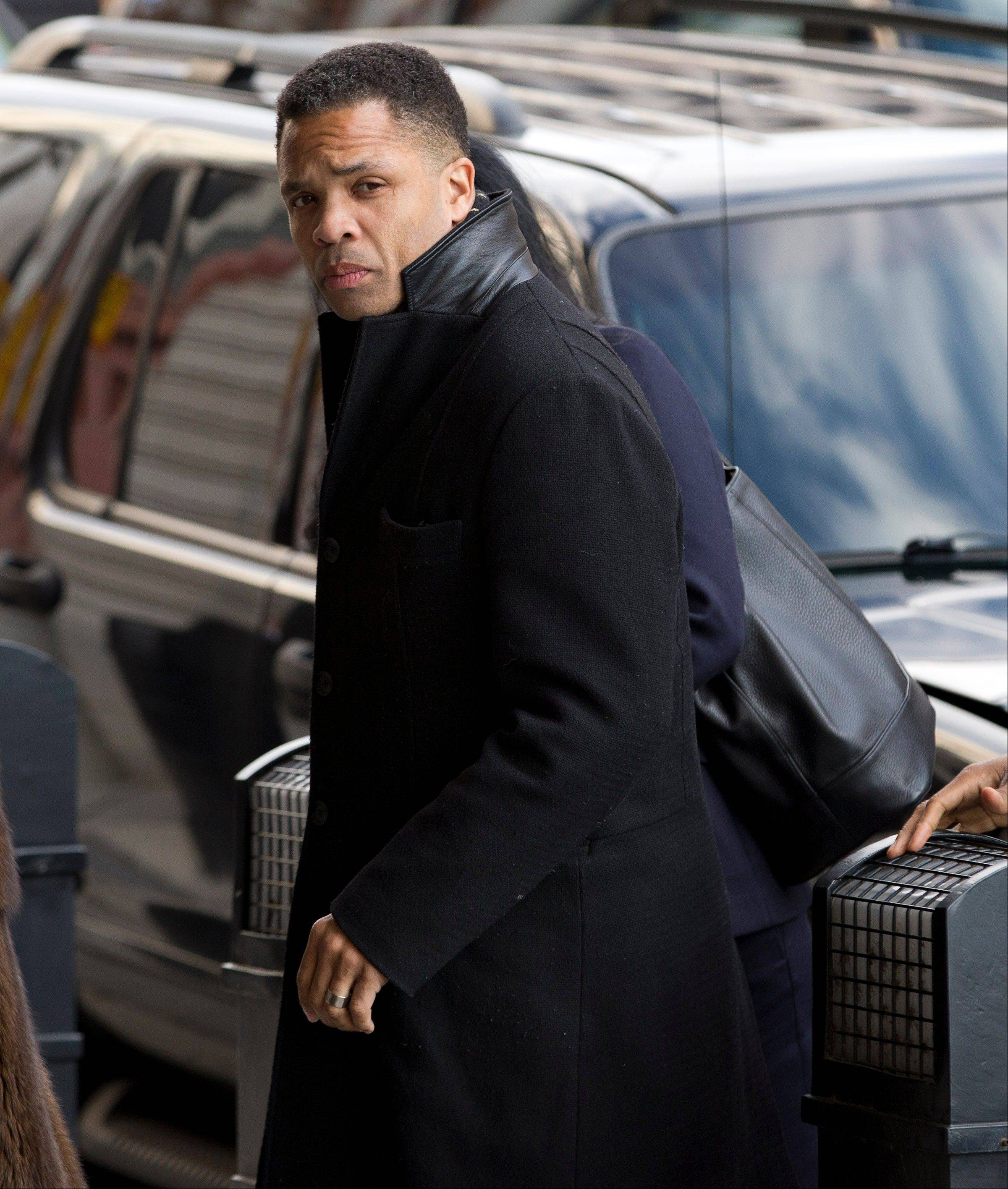 Former Illinois Rep. Jesse Jackson Jr. arrives at the E. Barrett Prettyman Federal Courthouse in Washington, Wednesday.