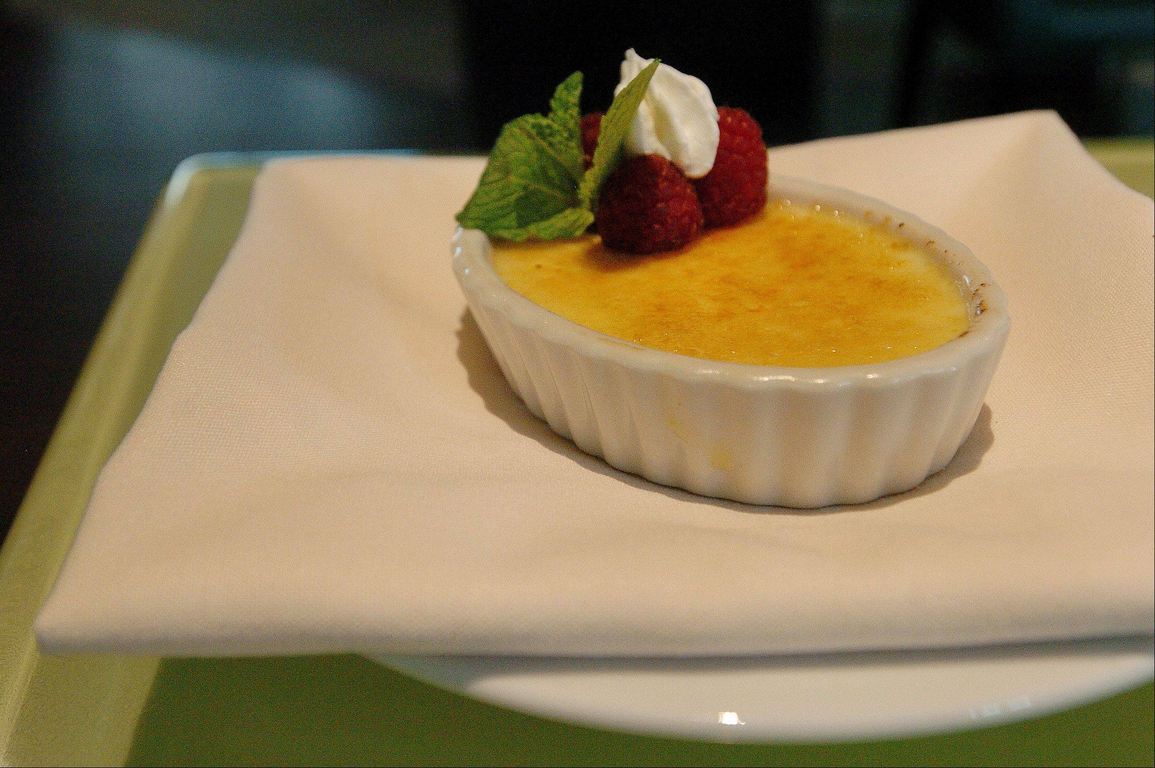 Pumpkin Creme Brulee is one of the seasonal desserts offered at Fresh 1800 in Schaumburg.