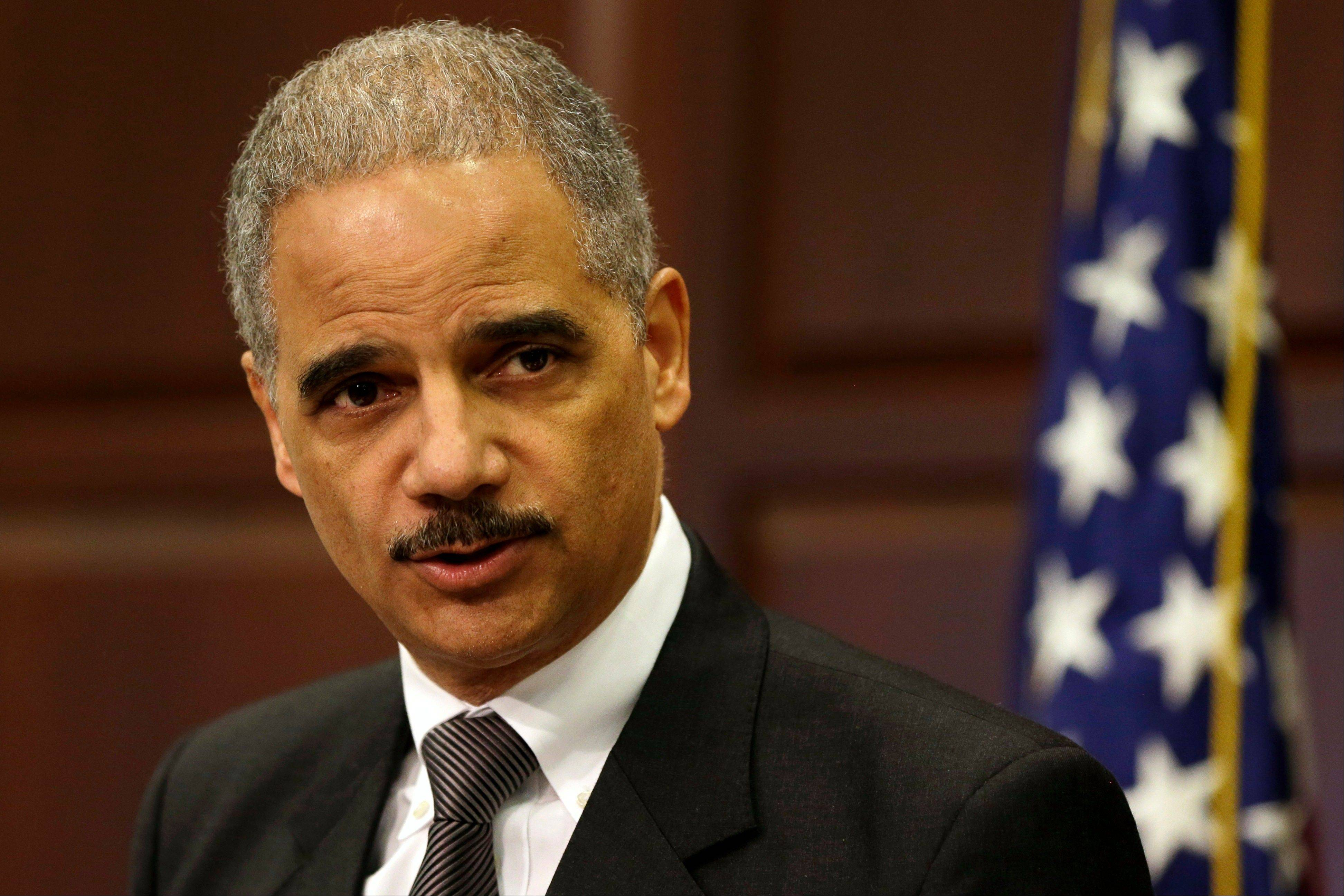 Attorney General Eric Holder speaks about strategy to mitigate the theft of U.S. trade secrets Wednesday. The Obama administration is launching a new strategy to fight the growing theft of trade secrets following new evidence linking cyberstealing to China?s military.