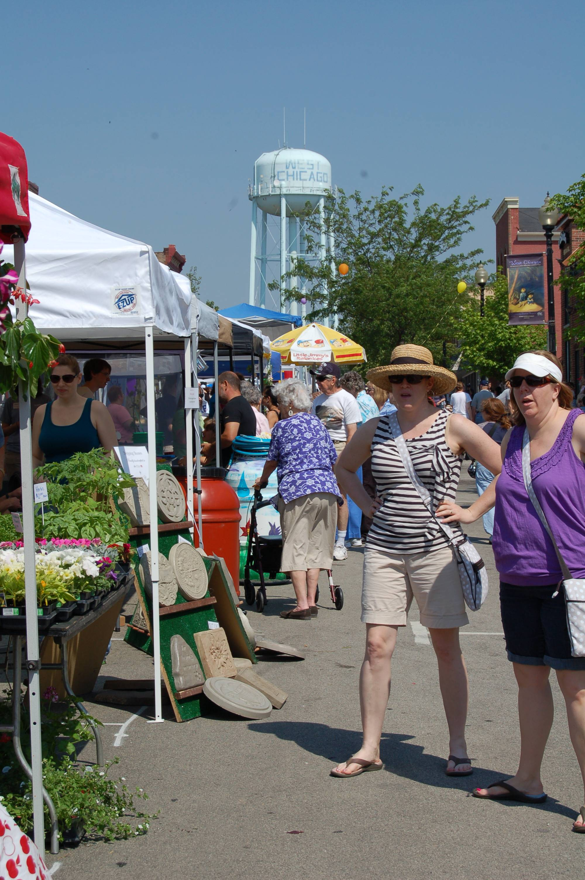 Vendors lined the streets of the historic downtown district during West Chicago's Blooming Fest in 2012.