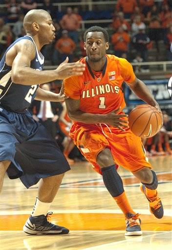 D.J. Richardson started slow Thursday but finished with 18 points and hit a pair of key free throws late in Illinois' ugly 64-59 win over Penn State. The win was the fifth straight for Illinois (20-8, 7-7 Big Ten). But facing a team that hadn't won since late December, it didn't come easy.