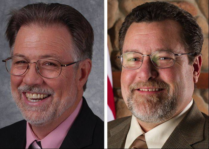 James (Jim) Dietz, left, and Daniel A. MacGillis, right, are candidates in the race for Round Lake Mayor in the 2013 Election.