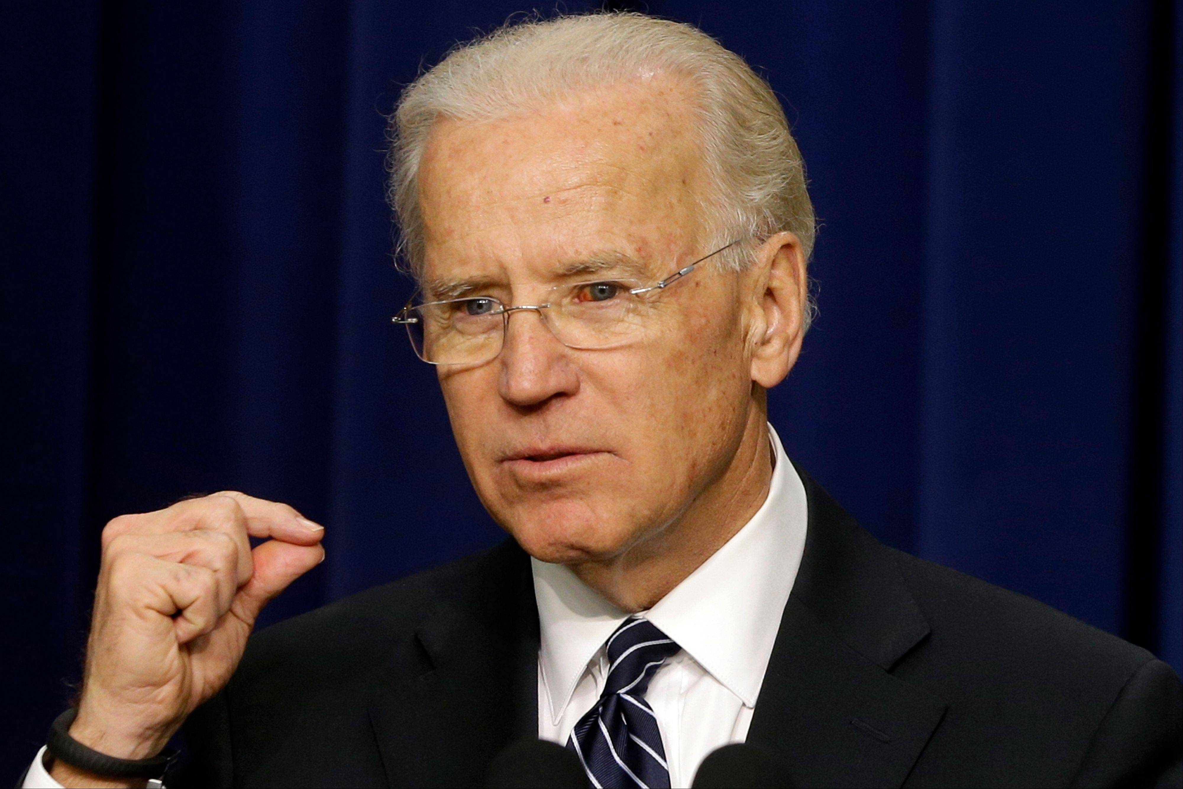 Vice President Joe Biden hoped to rally support for White House gun-control measures while speaking at a conference Thursday in Danbury, Conn., just a few miles from the site of the Sandy Hook Elementary School shootings of Dec. 14.