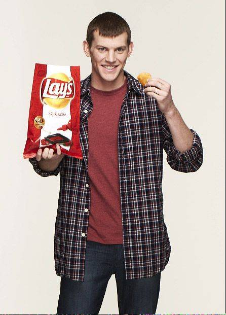 Lake Zurich's Tyler Raineri is one of three finalists in a nationwide contest that attracted 3.8 million submissions for new Lay's potato chip flavors. His sriracha chip — flavored by the Asian-style hot sauce — is up against a cheesy garlic bread chip and chicken and waffles chips.