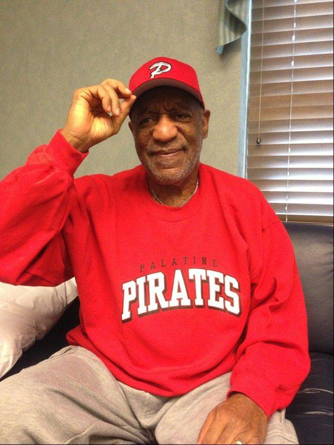 A Palatine High School parent recently snapped a picture of Bill Cosby wearing PHS gear in an effort to gain support for a Friday night fundraiser.