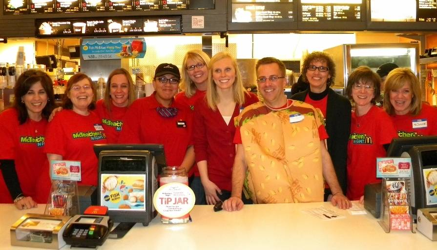 126-Carpenter School McTeachers worked hard all night at McDonald's in Park Ridge.