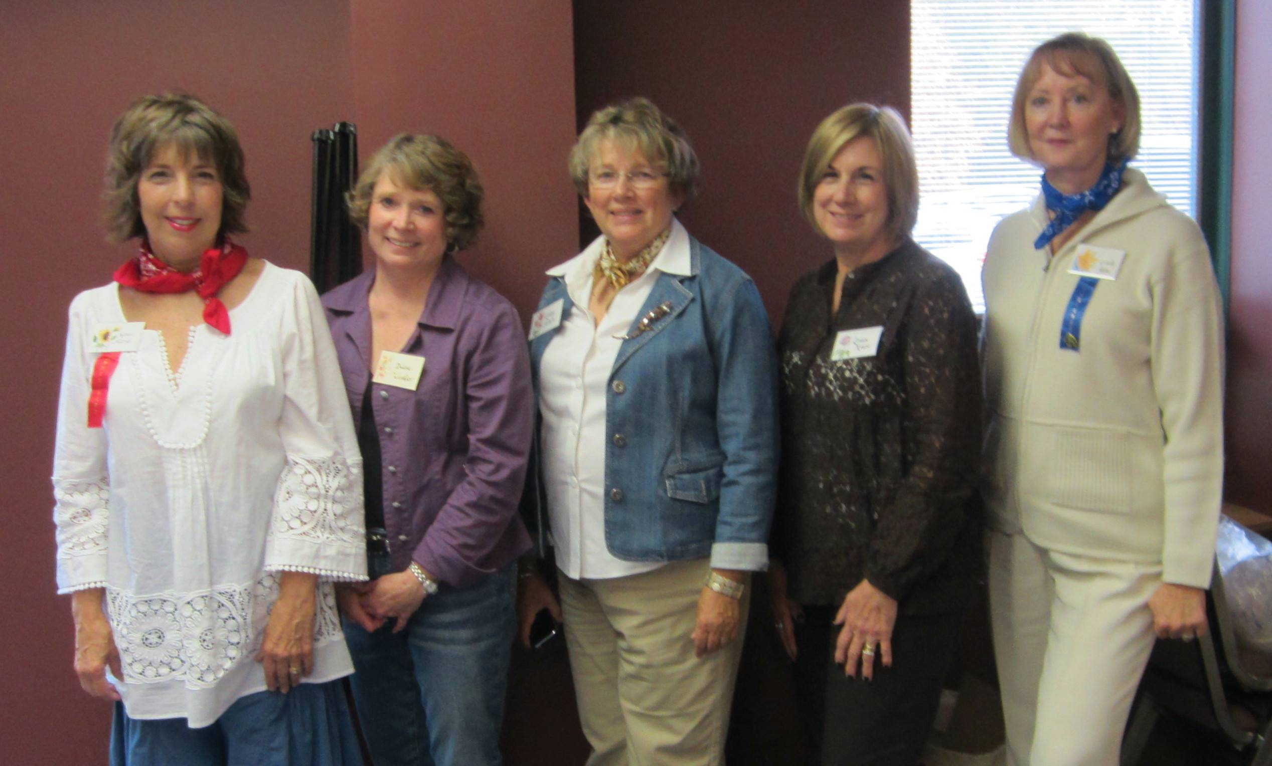 The 2013 Pottawatomie Garden Club executive board from left to right Karen Masus, president; Diane Winkler, secretary; Lanny Salvati, vice president; Louise Cruse, treasurer; Cynthia Jelm, out going president.