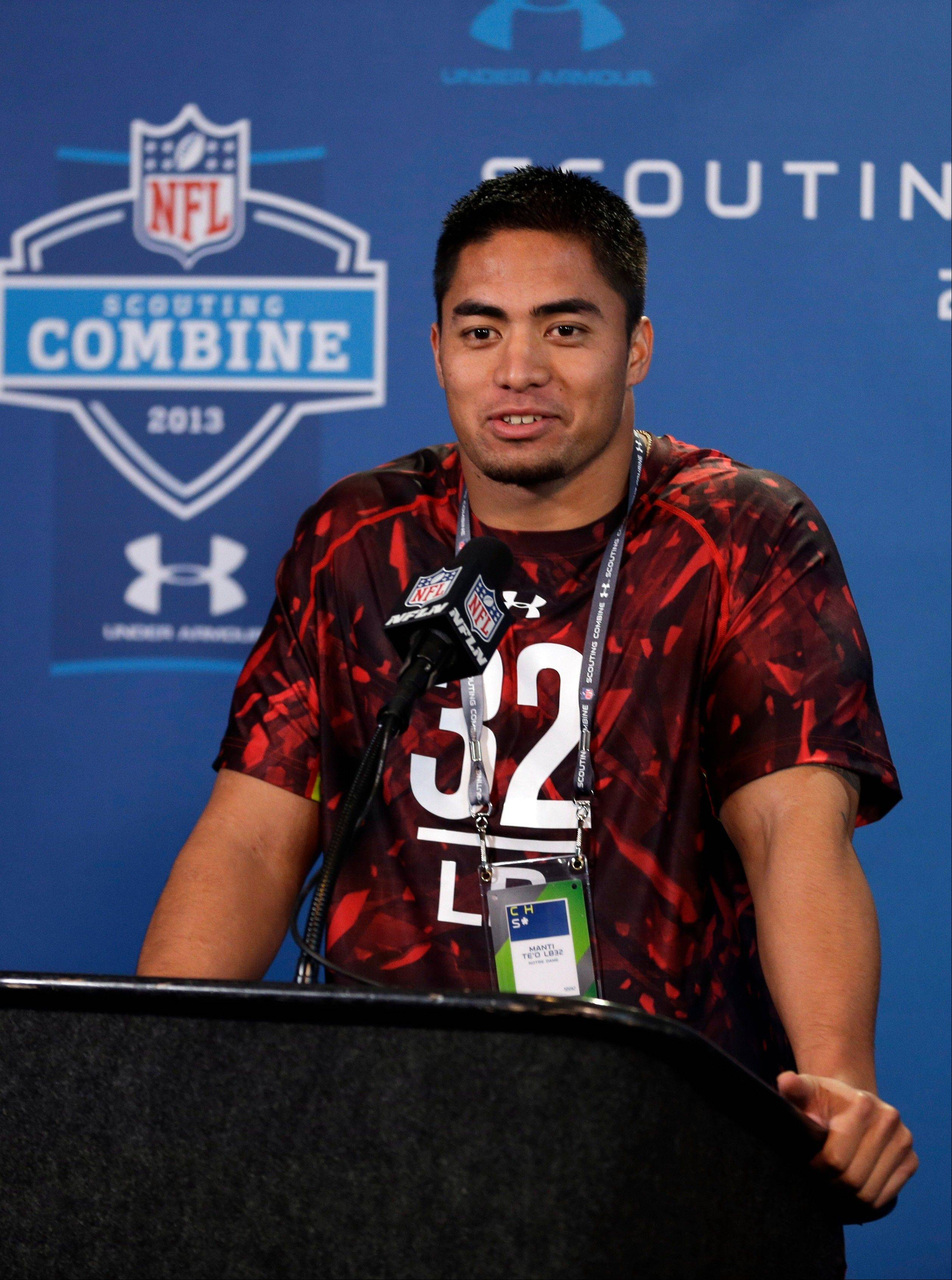 On Saturday at the NFL Scouting Combine, linebacker Manti Te'o answered questions from a throng of reporters about his dead girlfriend that didn't actually exist.