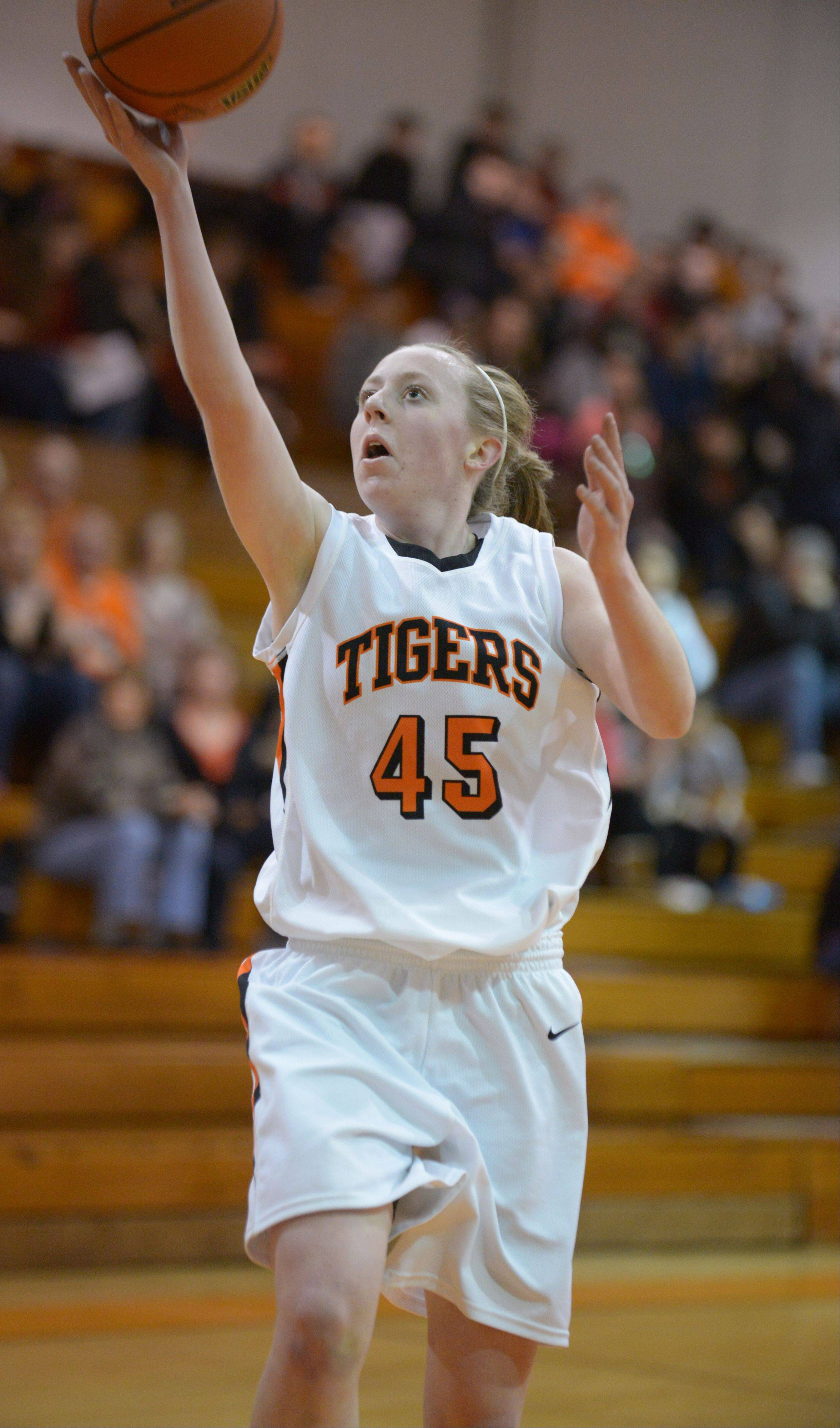 Junior Meghan Waldron of Wheaton Warrenville South will lead her teammates against Huntley Monday night in the Class 4A Dundee-Crown supersectional.