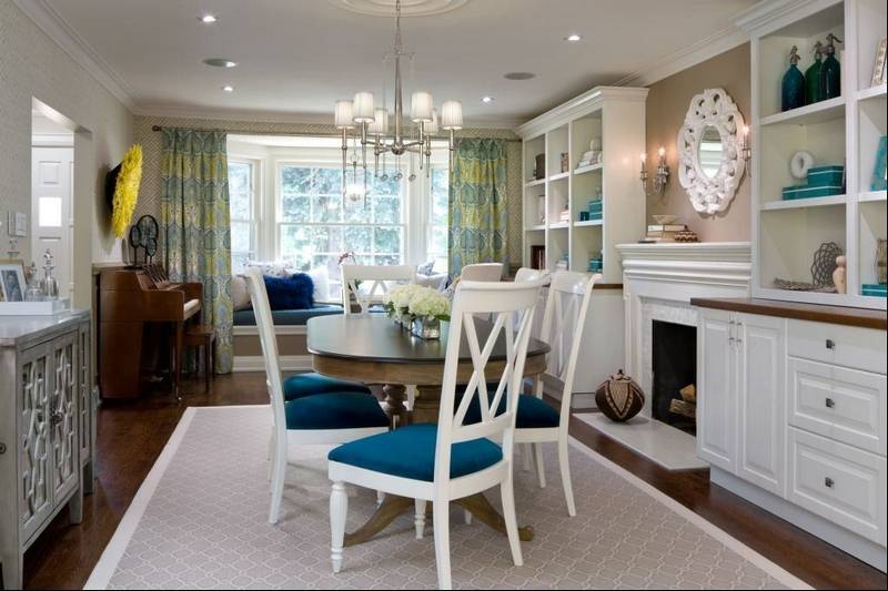 Dining room turned into multipurpose masterpiece for Front room dining room ideas